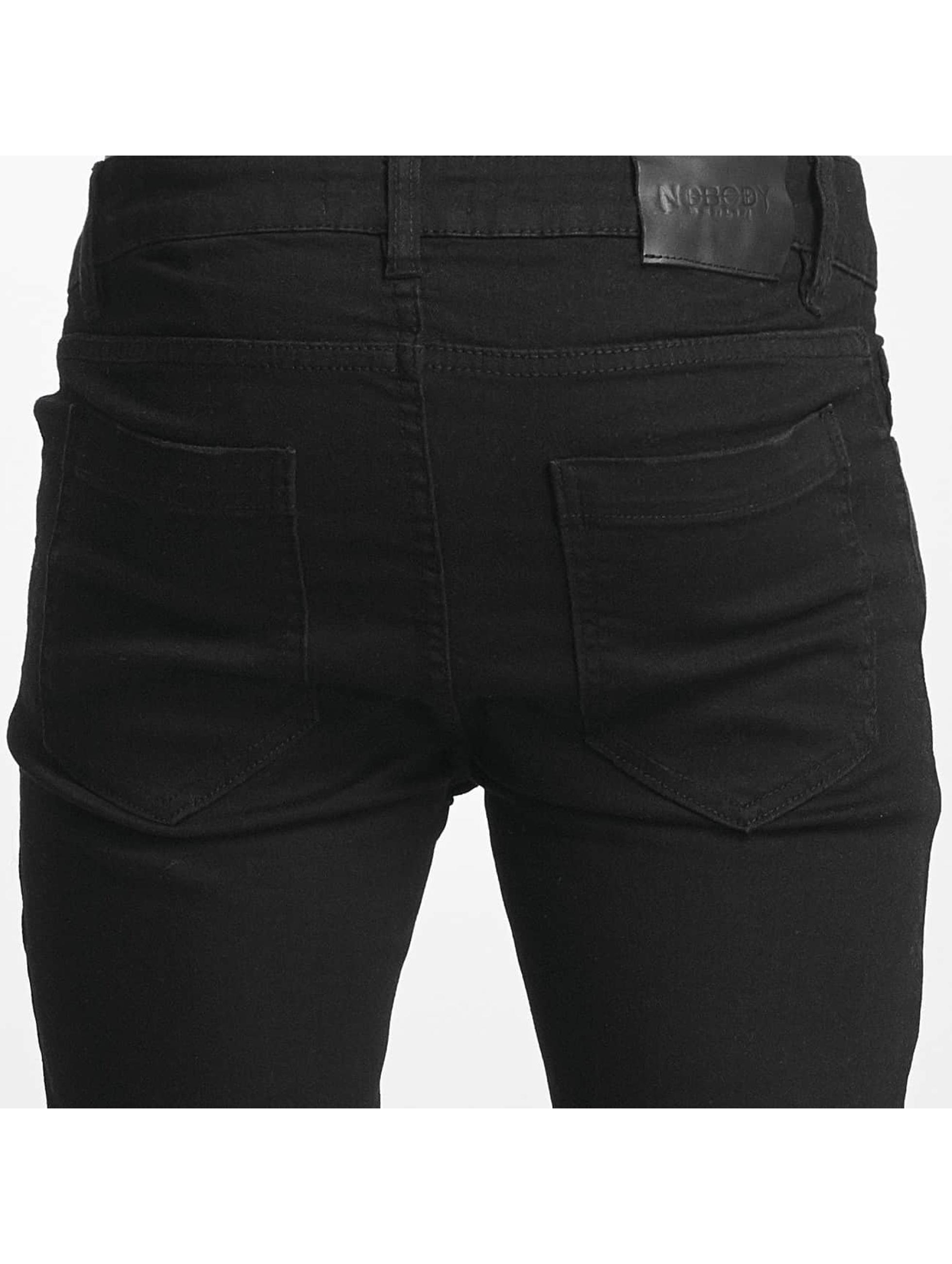 Nobody Berlin Skinny Jeans Destroyed schwarz