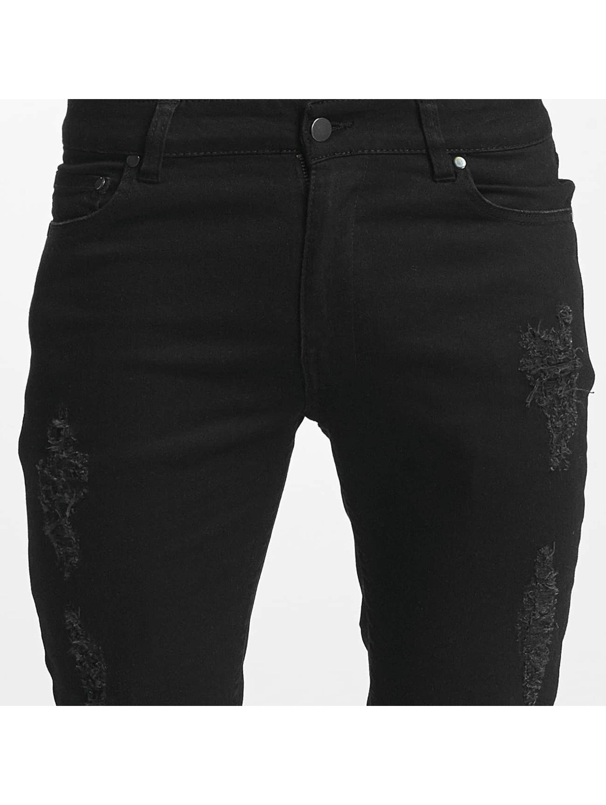 Nobody Berlin Skinny jeans Destroyed zwart
