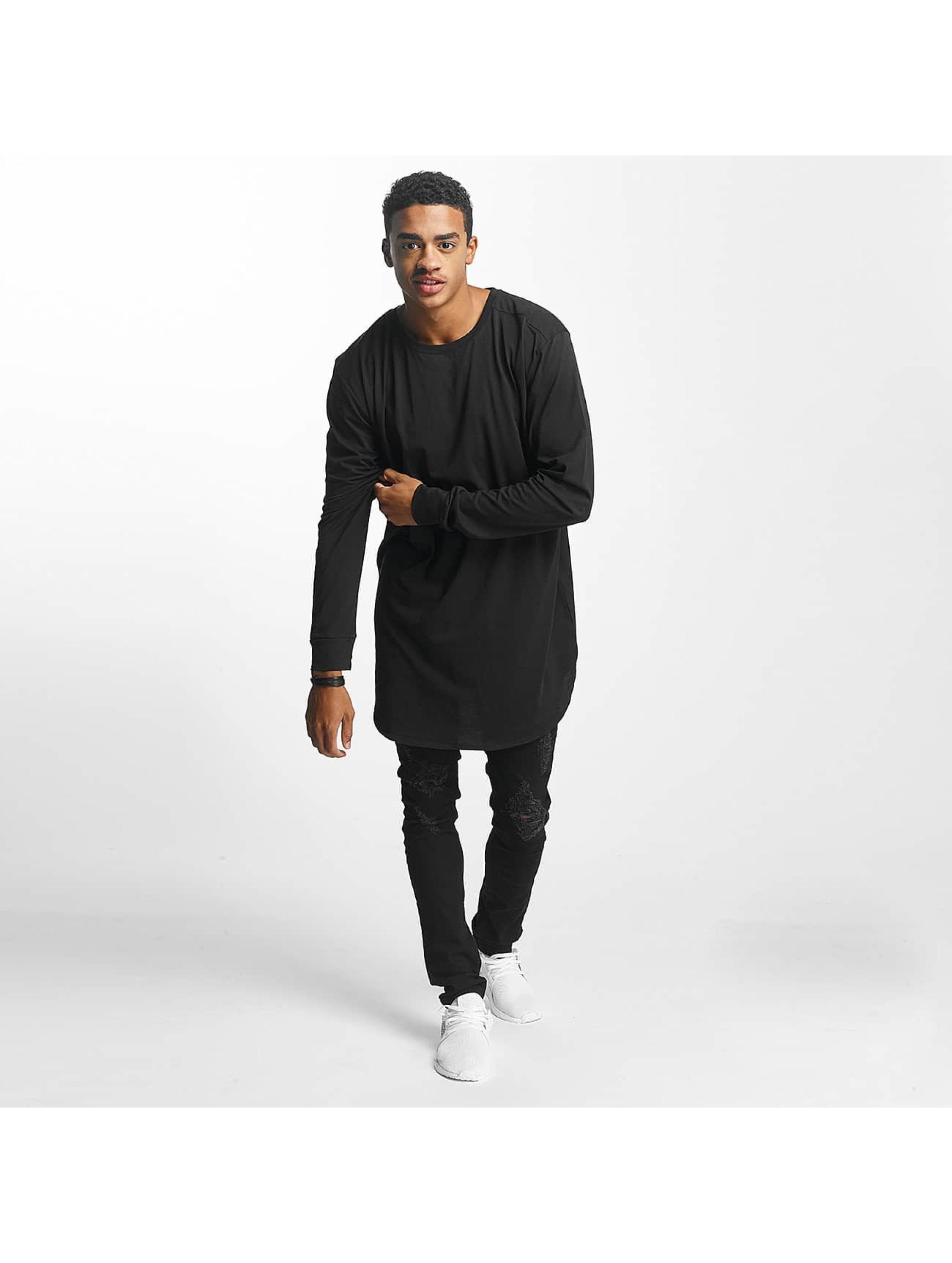 Nobody Berlin T-Shirt manches longues Basic noir
