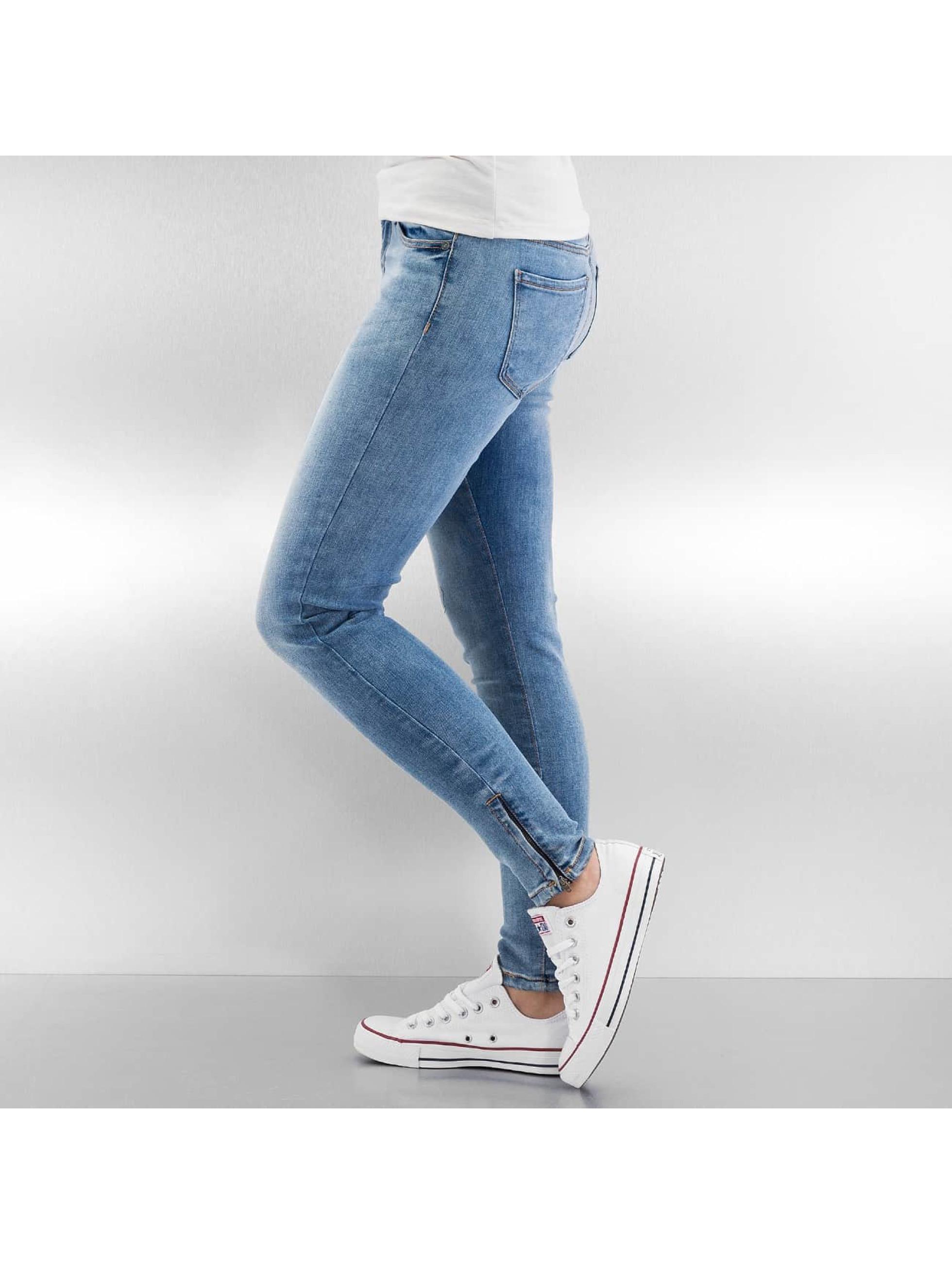 Noisy May Úzke/Streč nmLucy Super Slim Ankle modrá