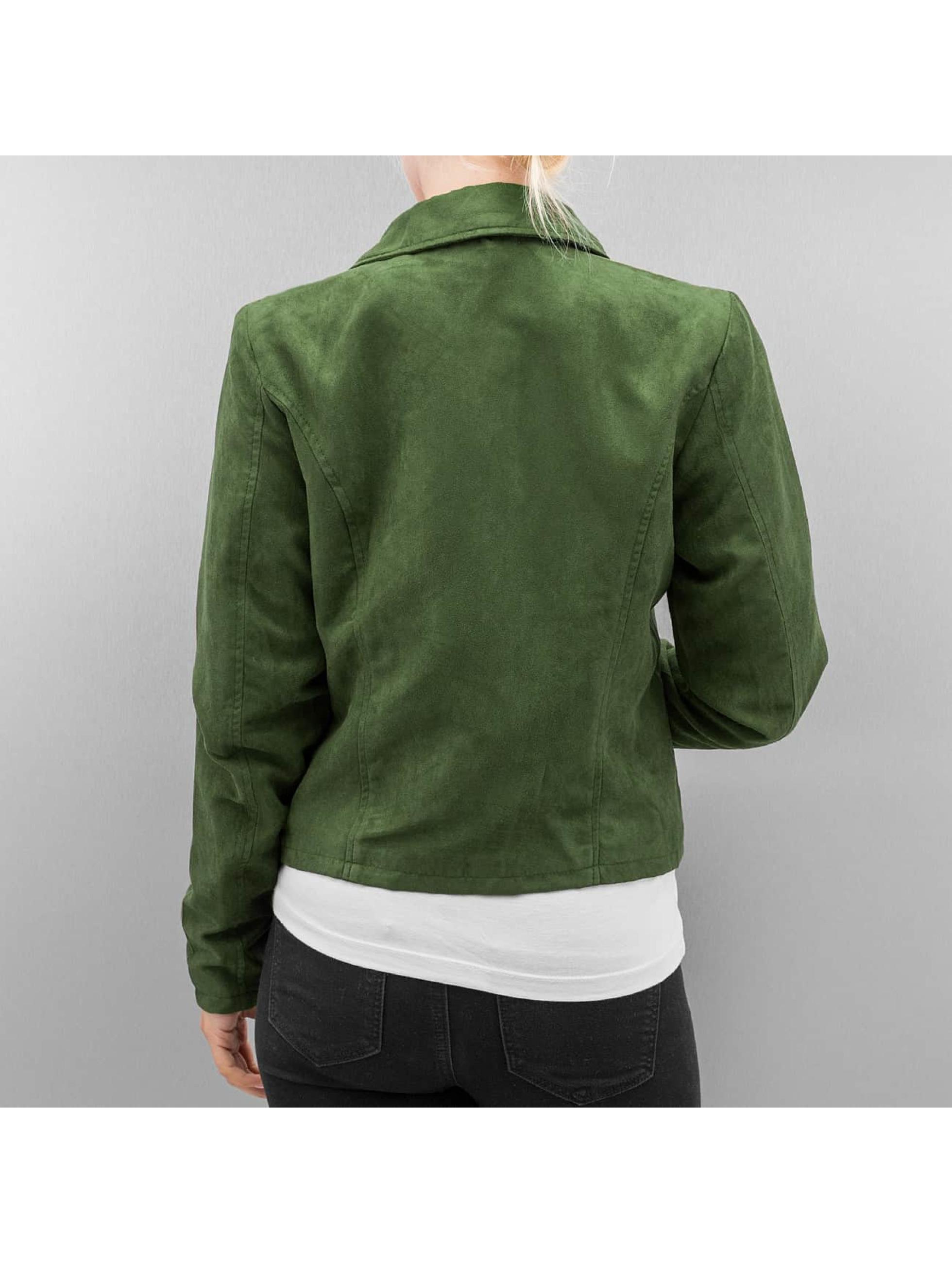 Noisy May Кожаная куртка nmLune зеленый