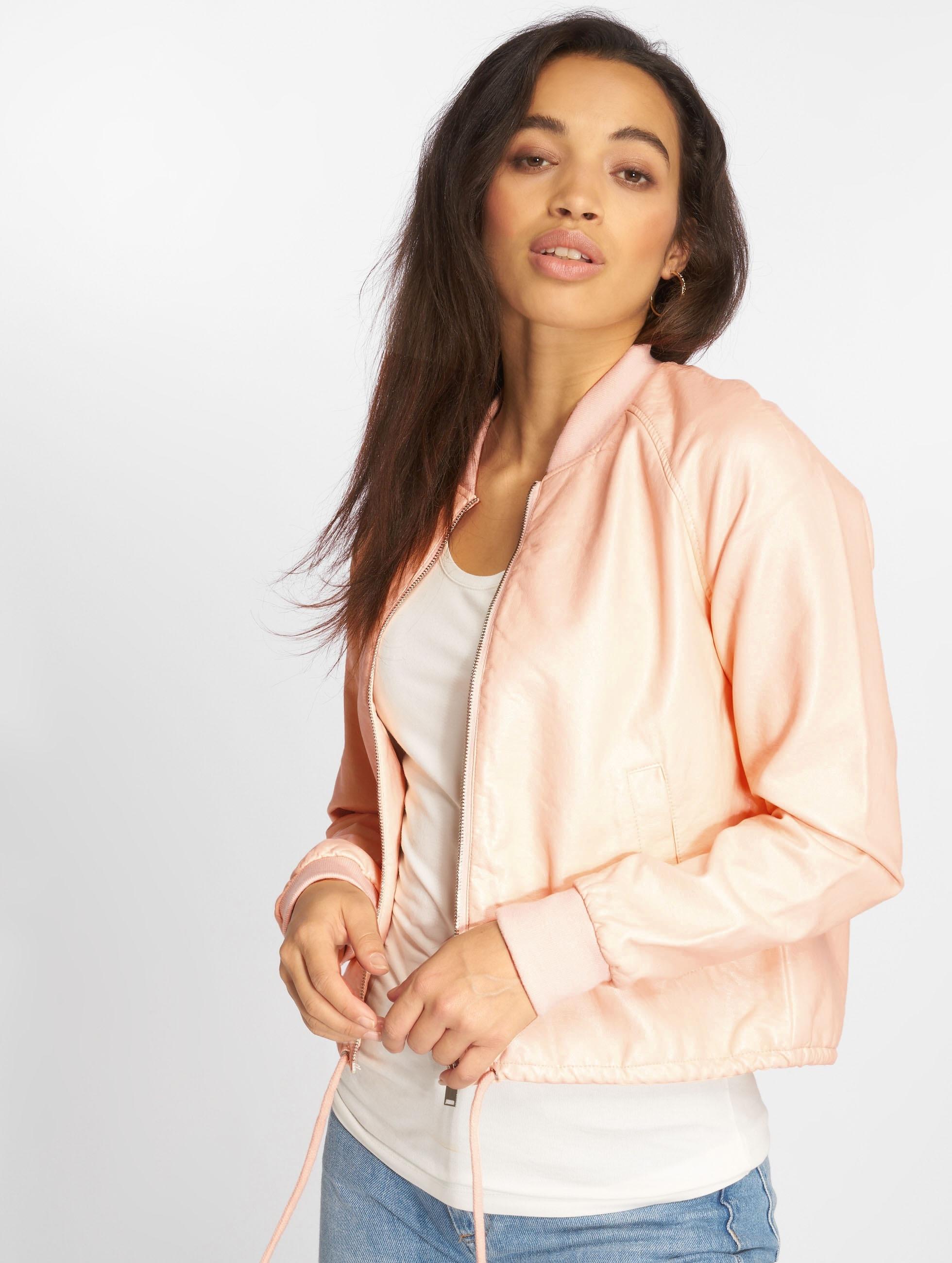 Noisy May Куртка-бомбардир NMShine розовый