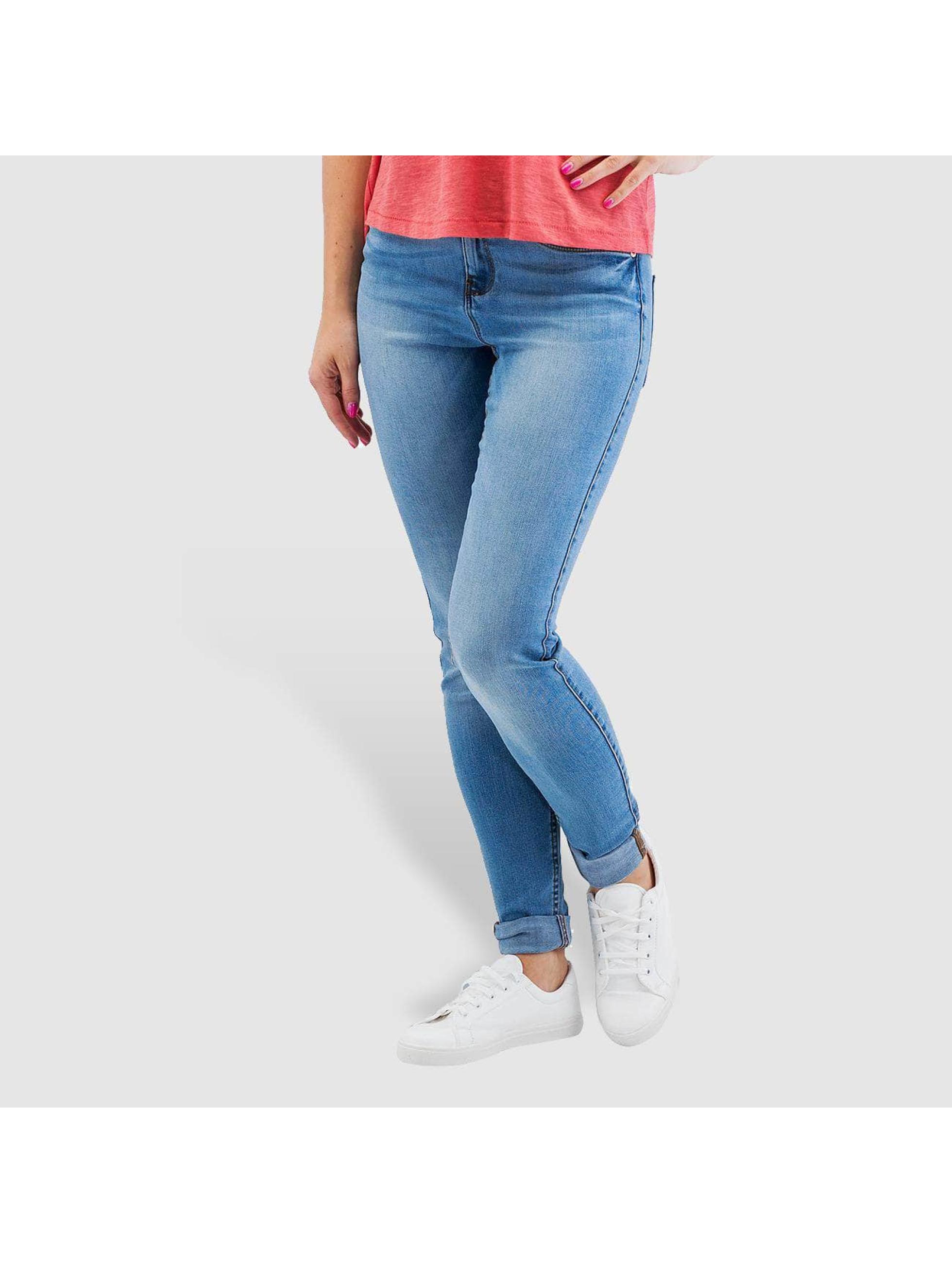 Noisy May Облегающие джинсы nmLucy Normal Waist Super Slim синий