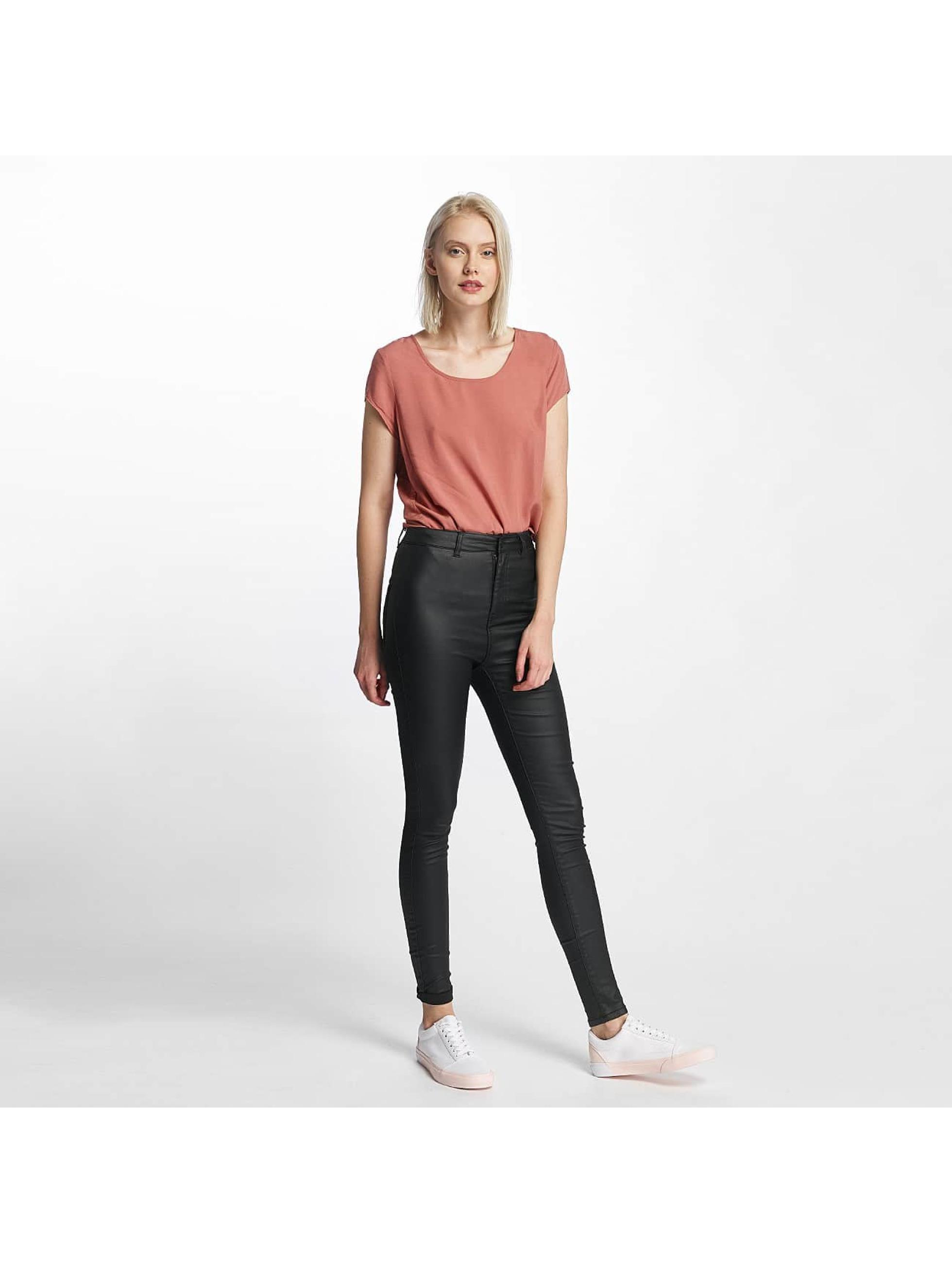Noisy May Облегающие джинсы nmElla Deluxe Coated черный