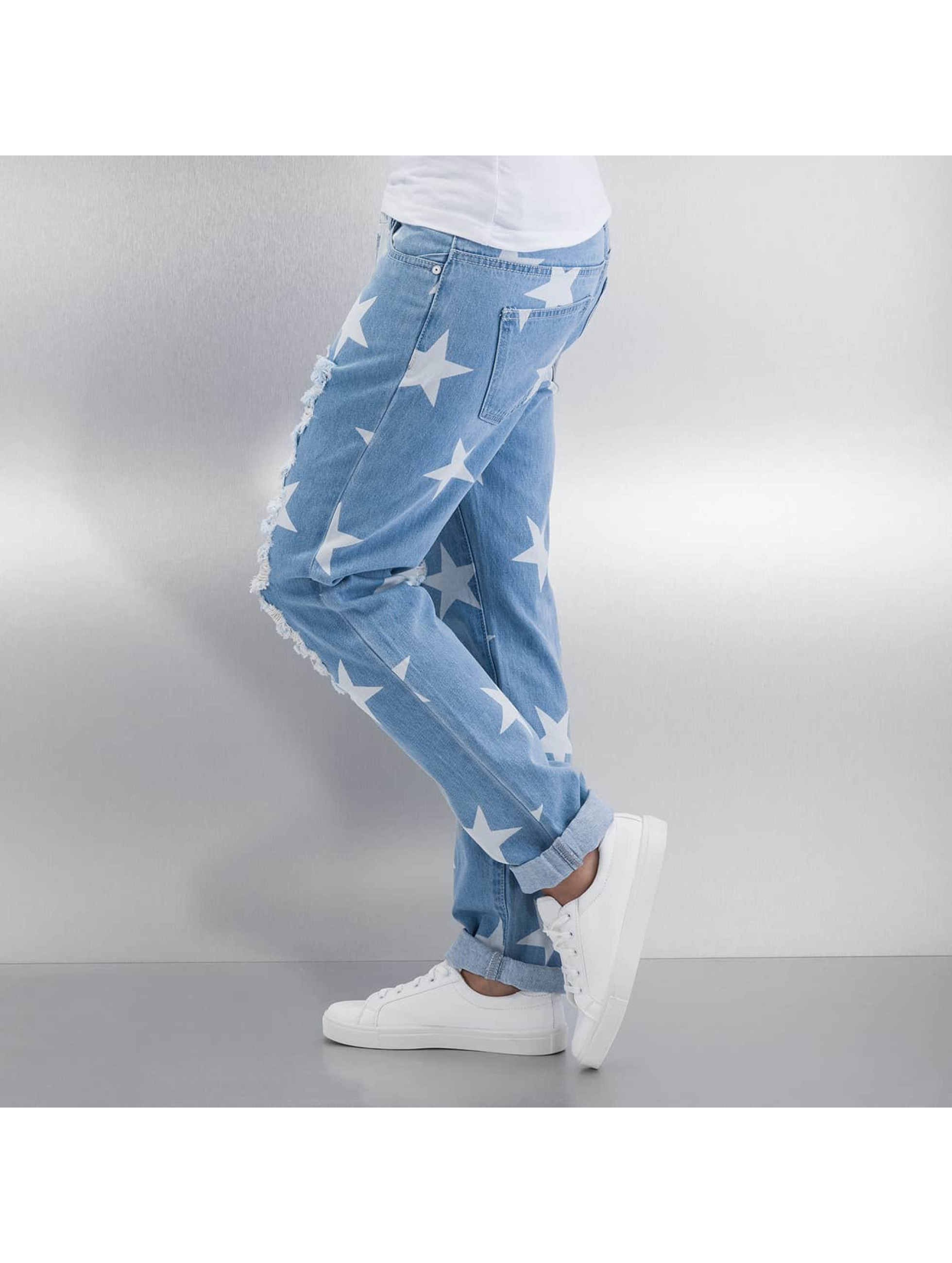 Noisy May Boyfriend jeans nmScarlet Star Low Waist Ankle blauw