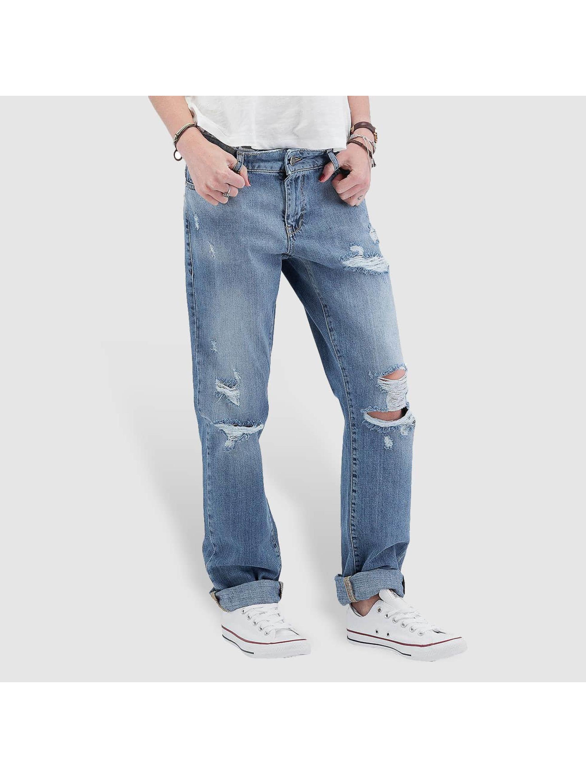 Noisy May Boyfriend jeans nmScarlet Normal Waist Regular blauw