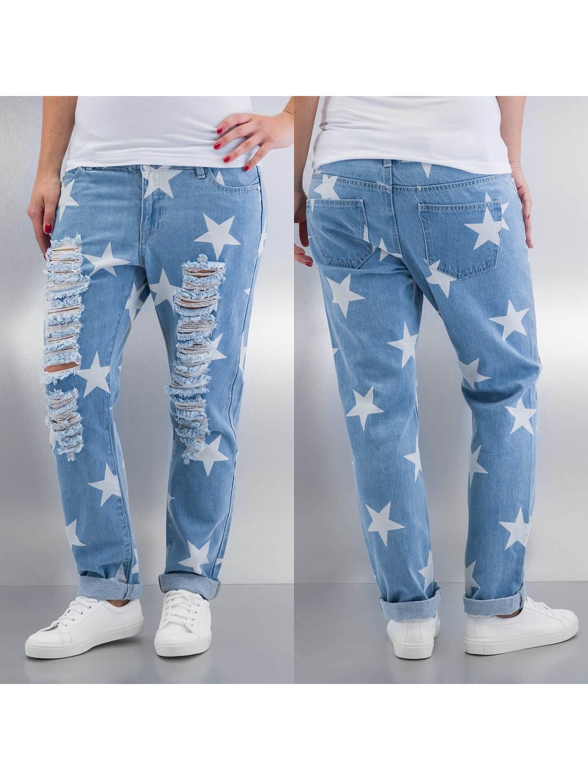 Noisy May Jean Boyfriend nmScarlet Star Low Waist Ankle bleu