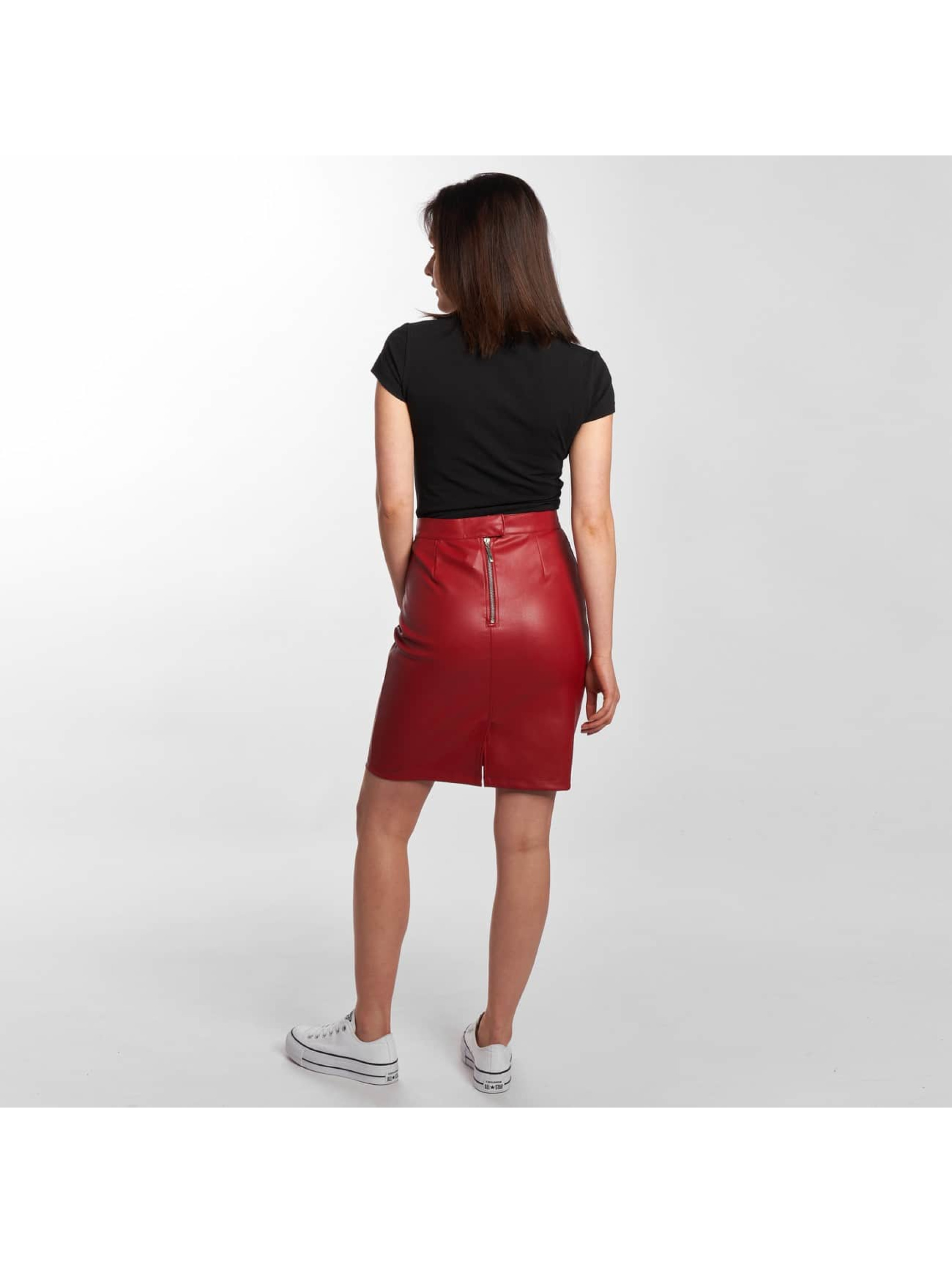 Noisy May Jupe Penny PU rouge