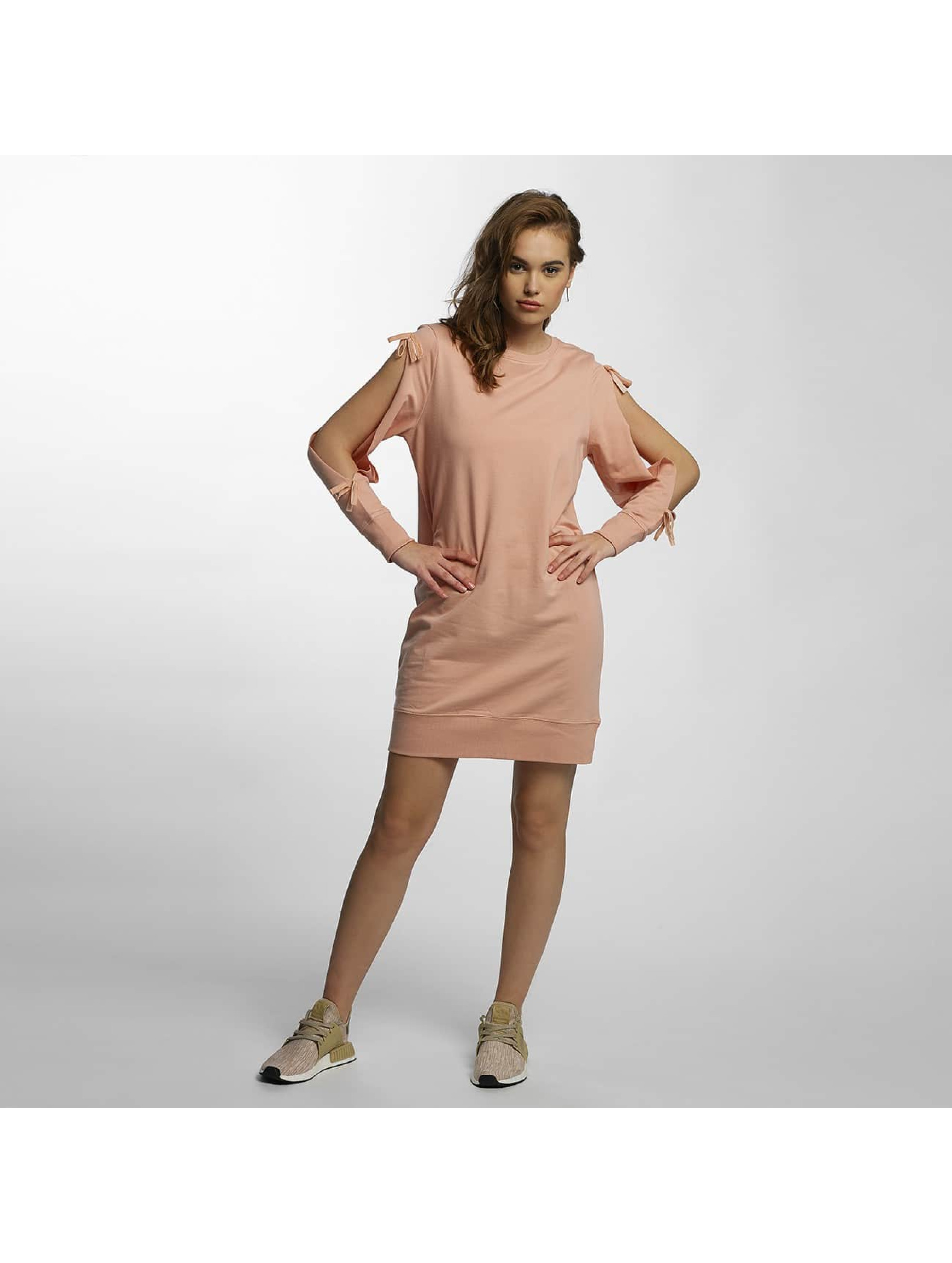 Noisy May Kleid mCadet Cut Out Sweat rosa