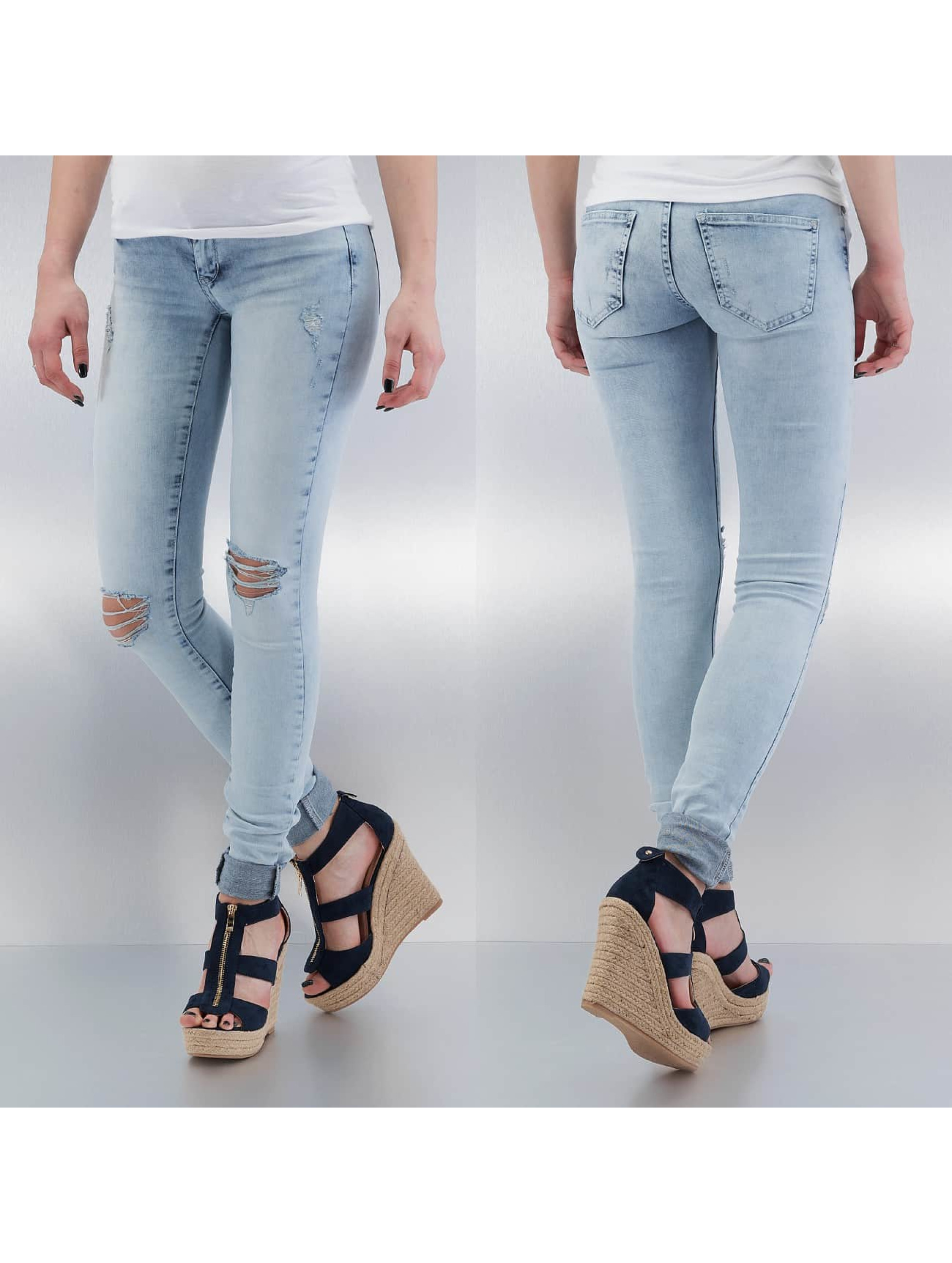 Noisy May Skinny Jeans nmKate Low Waisted Super Slim blau