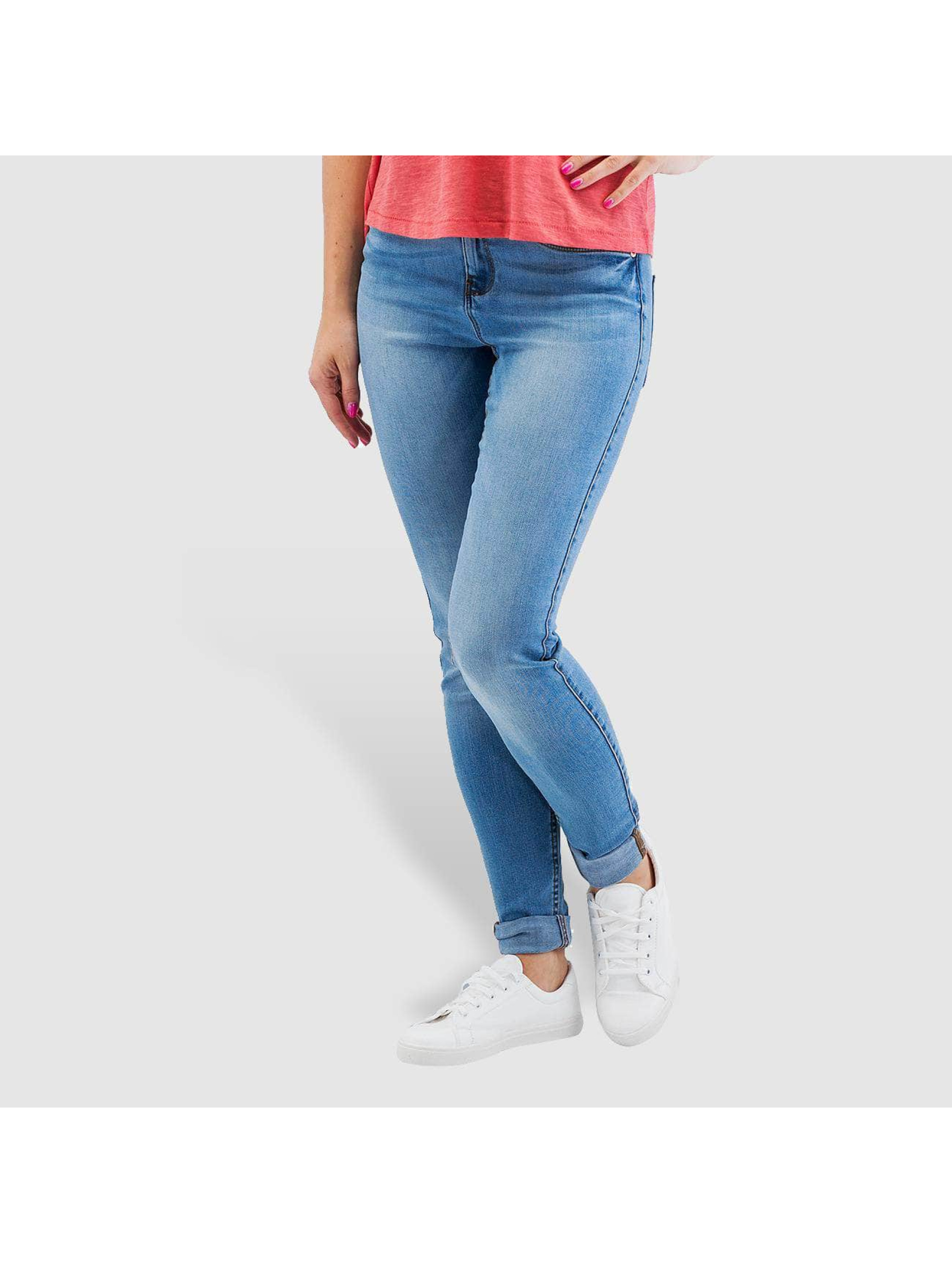 Noisy May Skinny Jeans nmLucy Normal Waist Super Slim blau
