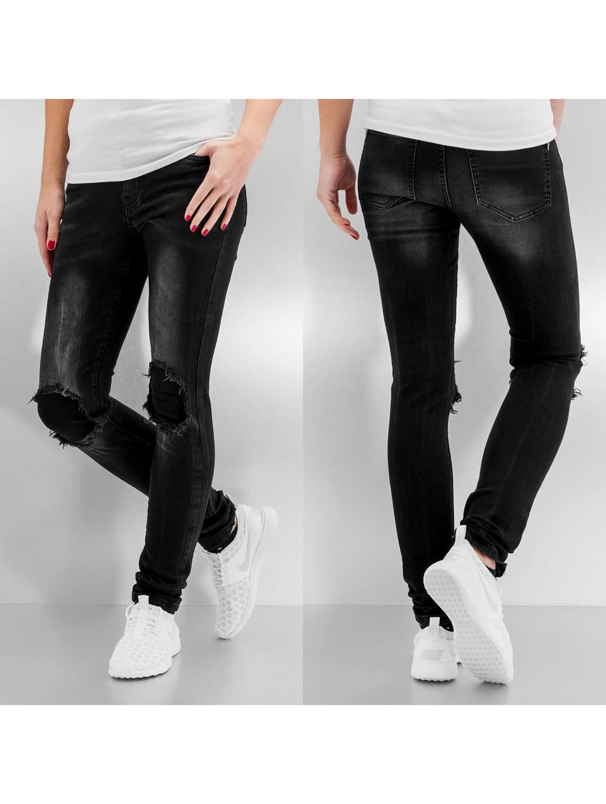 Noisy May Skinny Jeans nmLucy Normal Waist New Super Slim schwarz