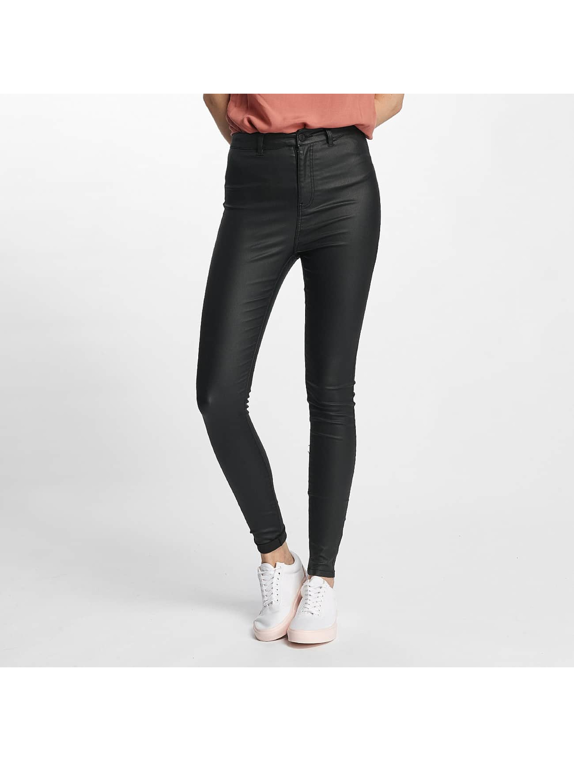 Noisy May Skinny Jeans nmElla Deluxe Coated schwarz