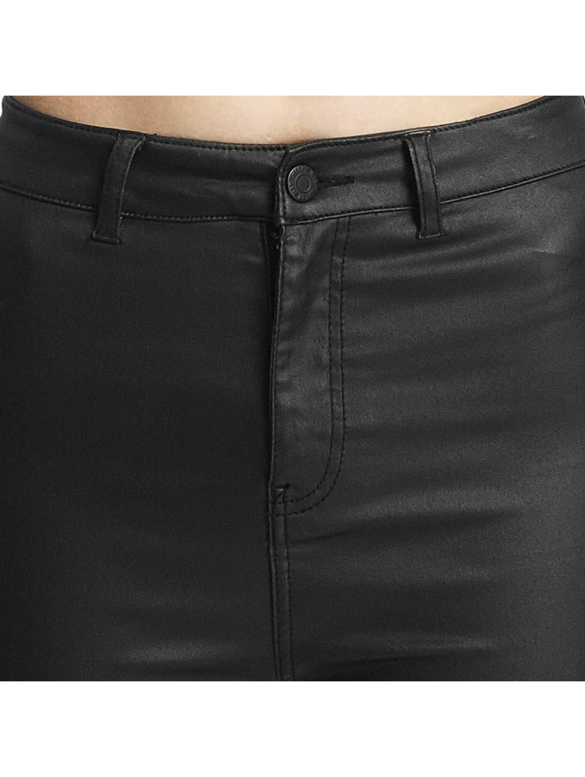 Noisy May Skinny jeans nmElla Deluxe Coated zwart