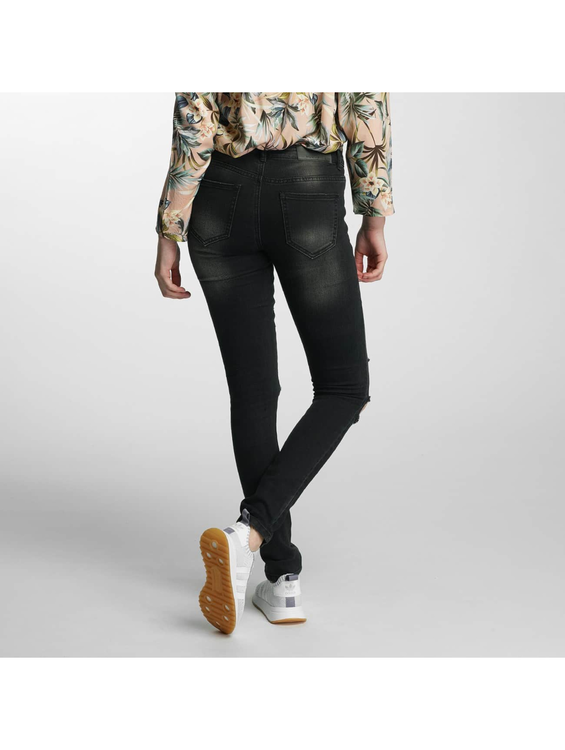 Noisy May Slim Fit Jeans nmEve Super Slim svart