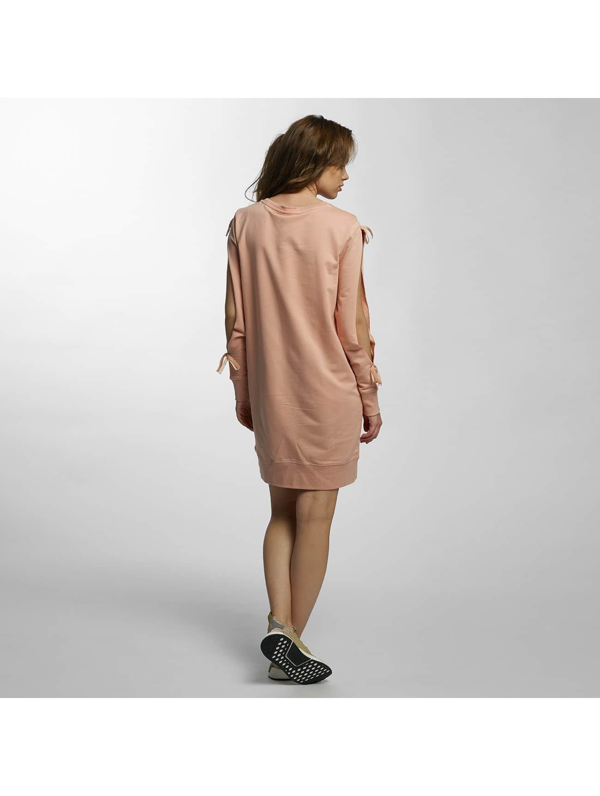 Noisy May Sukienki mCadet Cut Out Sweat rózowy