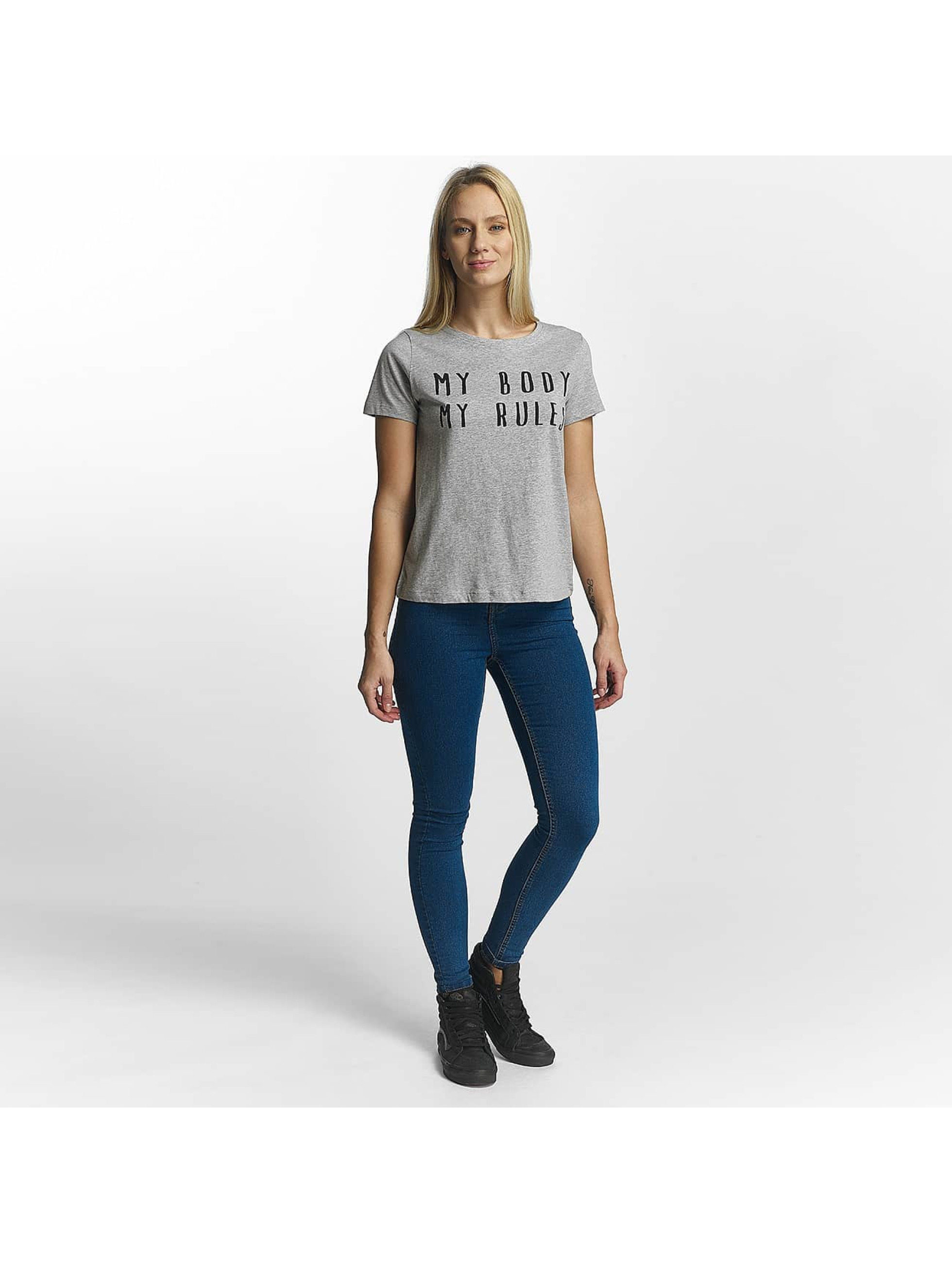 Noisy May T-Shirt Nate gris
