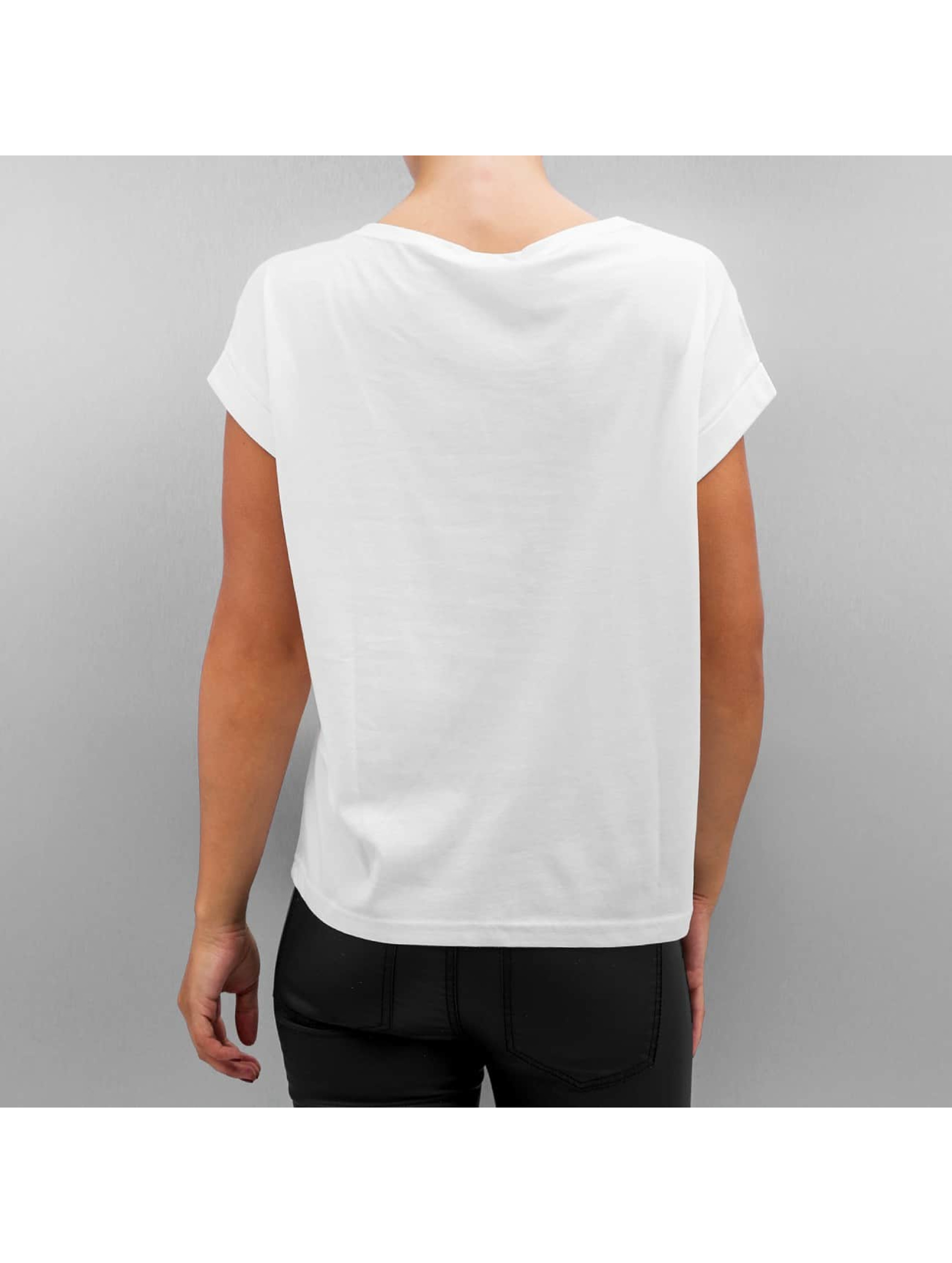 Noisy May T-Shirt nmBattle Cap Sleeve weiß