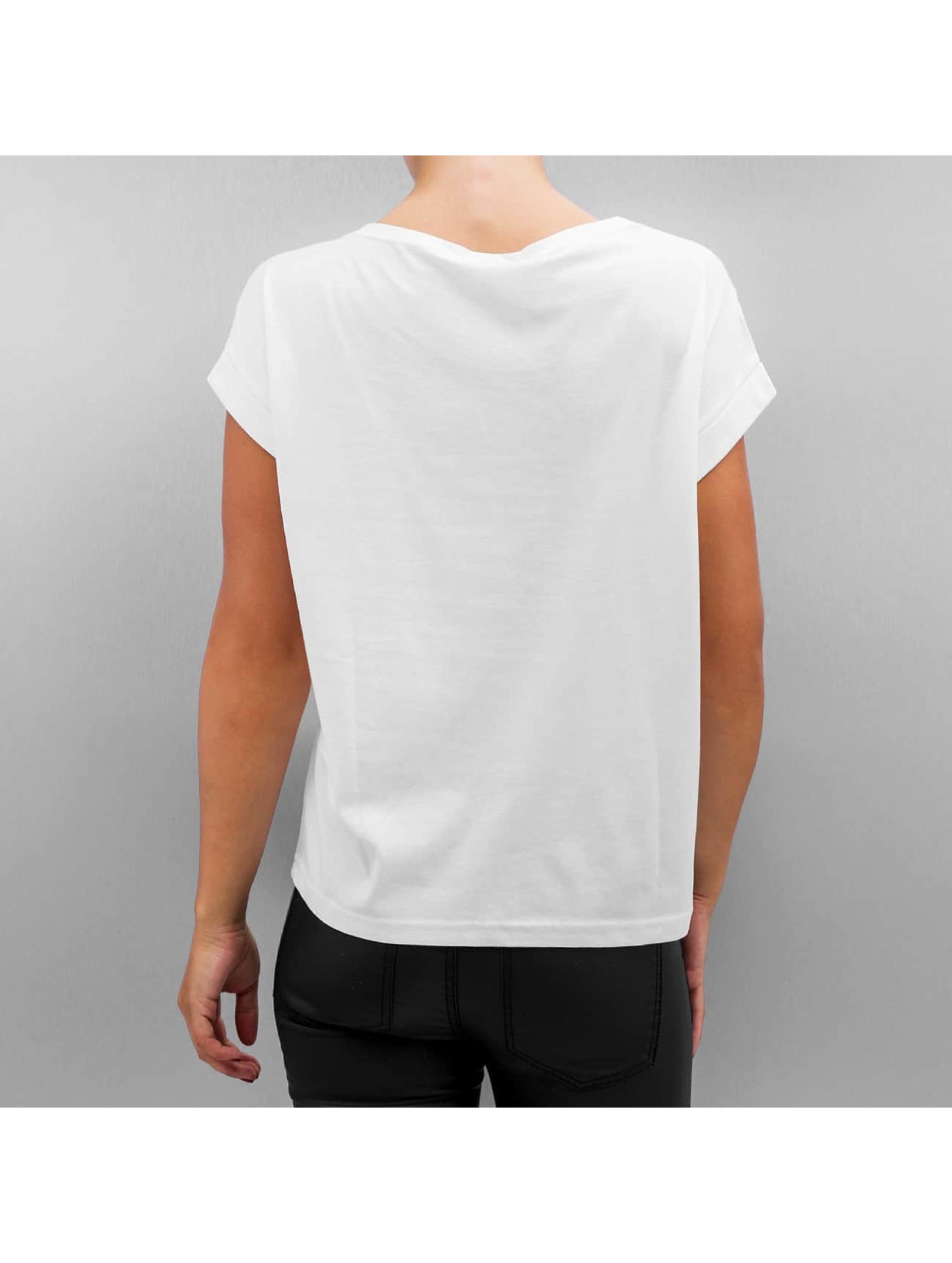 Noisy May T-Shirt nmBattle Cap Sleeve white