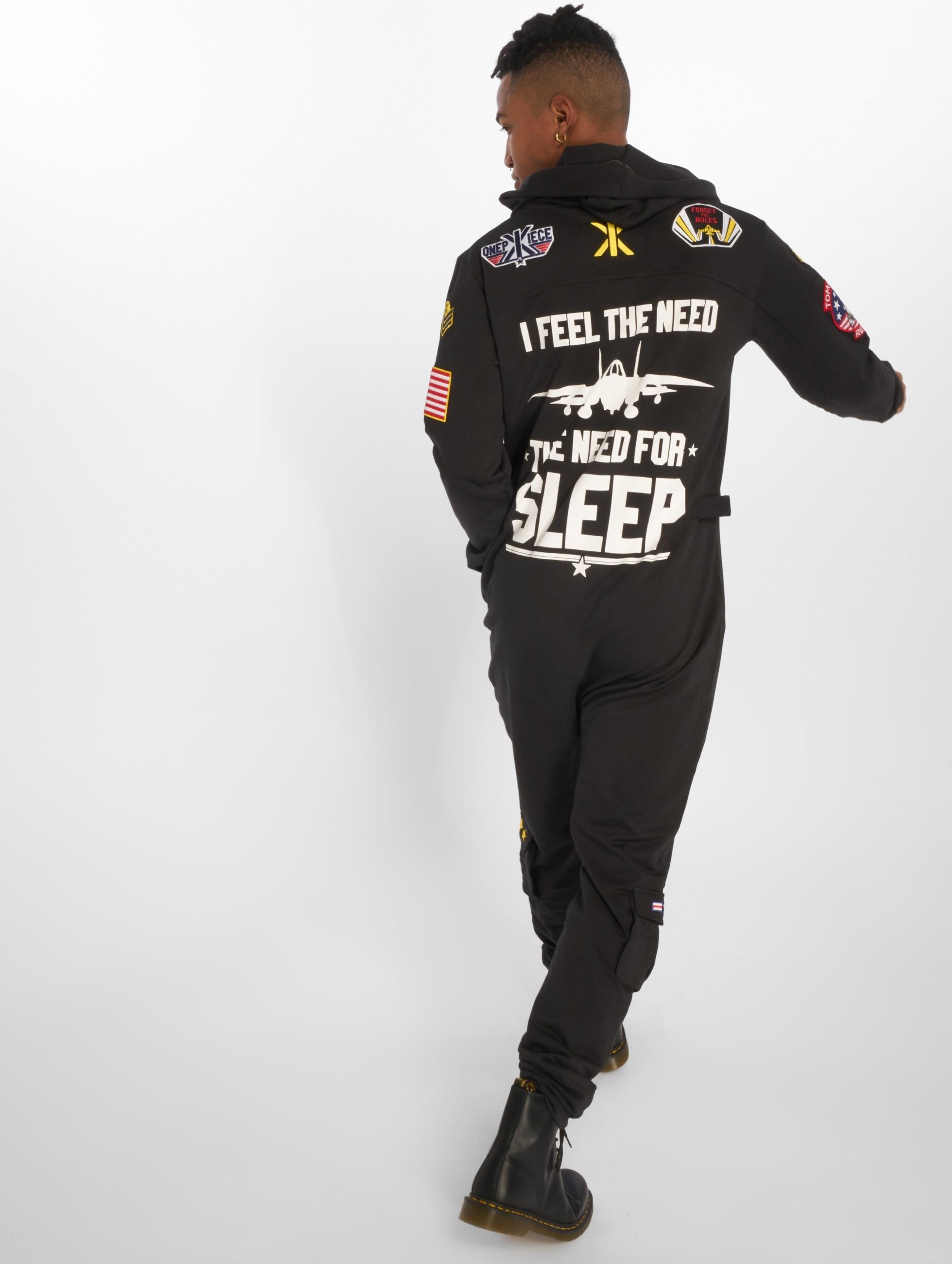 OnePiece jumpsuit Aviator zwart