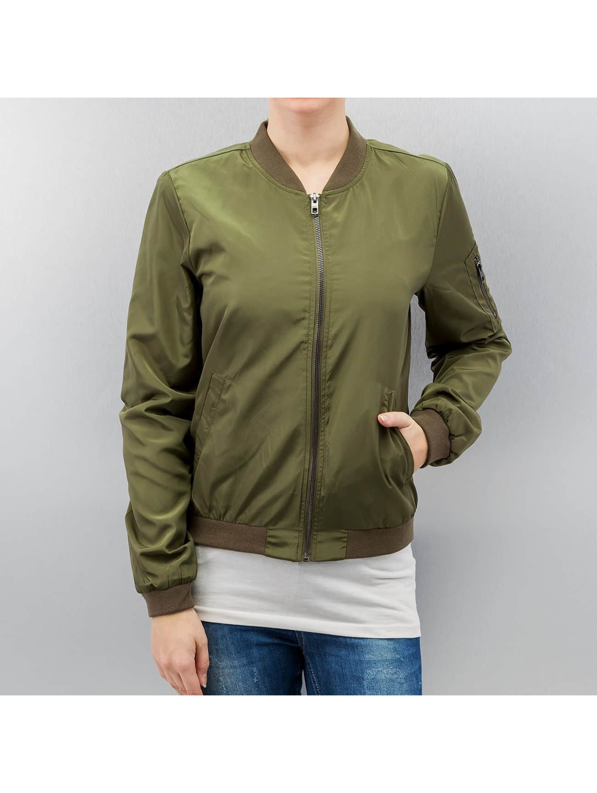 Only Куртка-бомбардир onlLinea Nylon зеленый