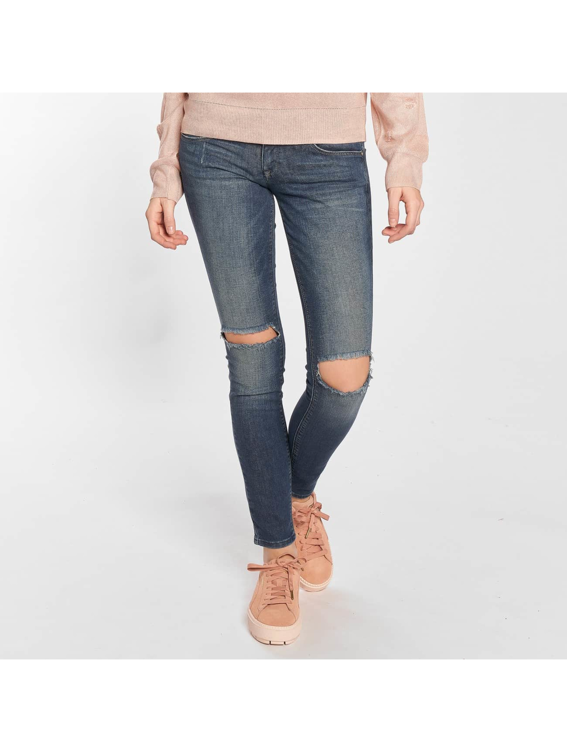 Only Облегающие джинсы onlCoral Kneehole Skinny синий