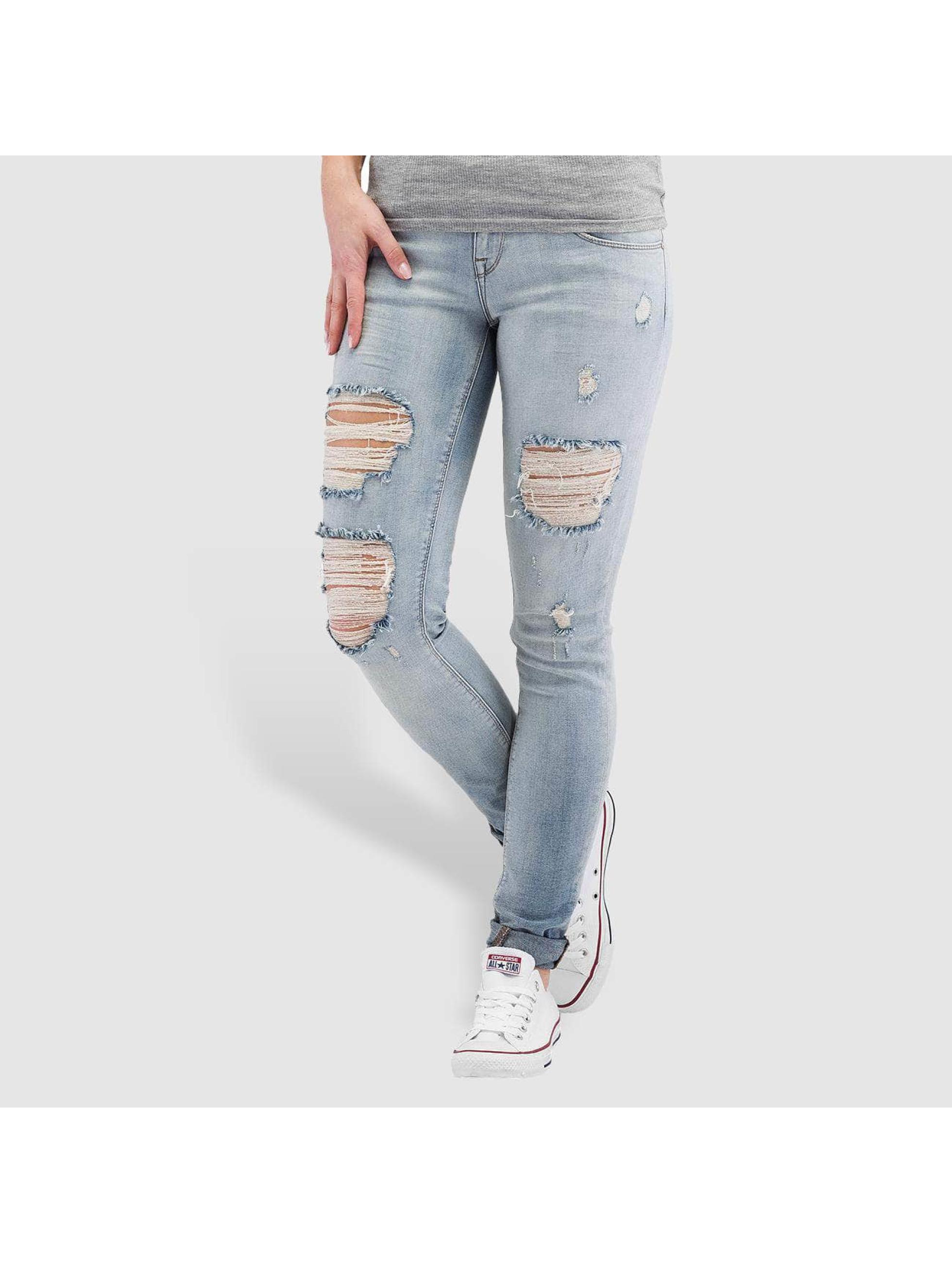 Only Облегающие джинсы onlCoral Superlow синий
