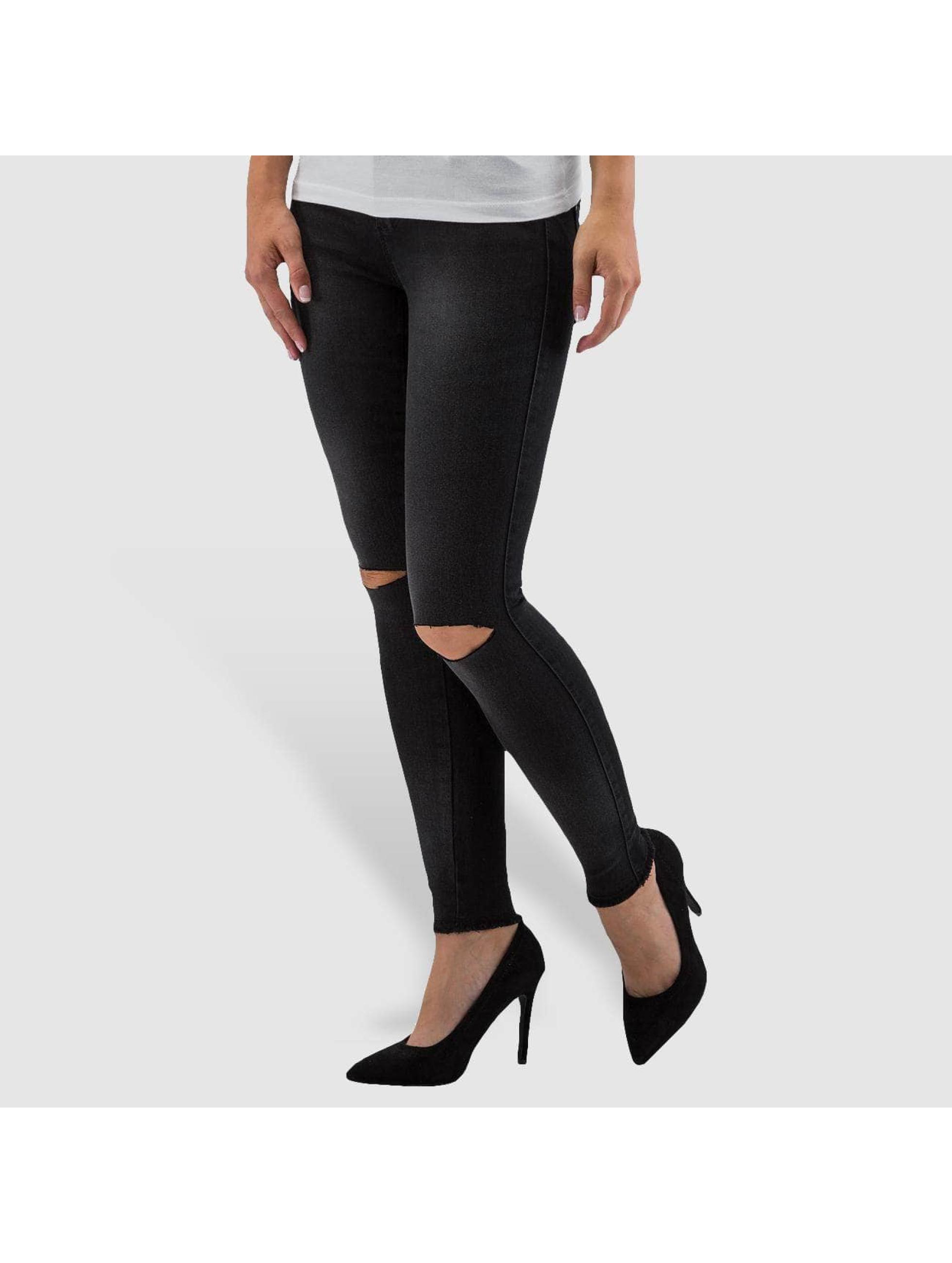 Only Облегающие джинсы onlRoyal Regular Ankle черный