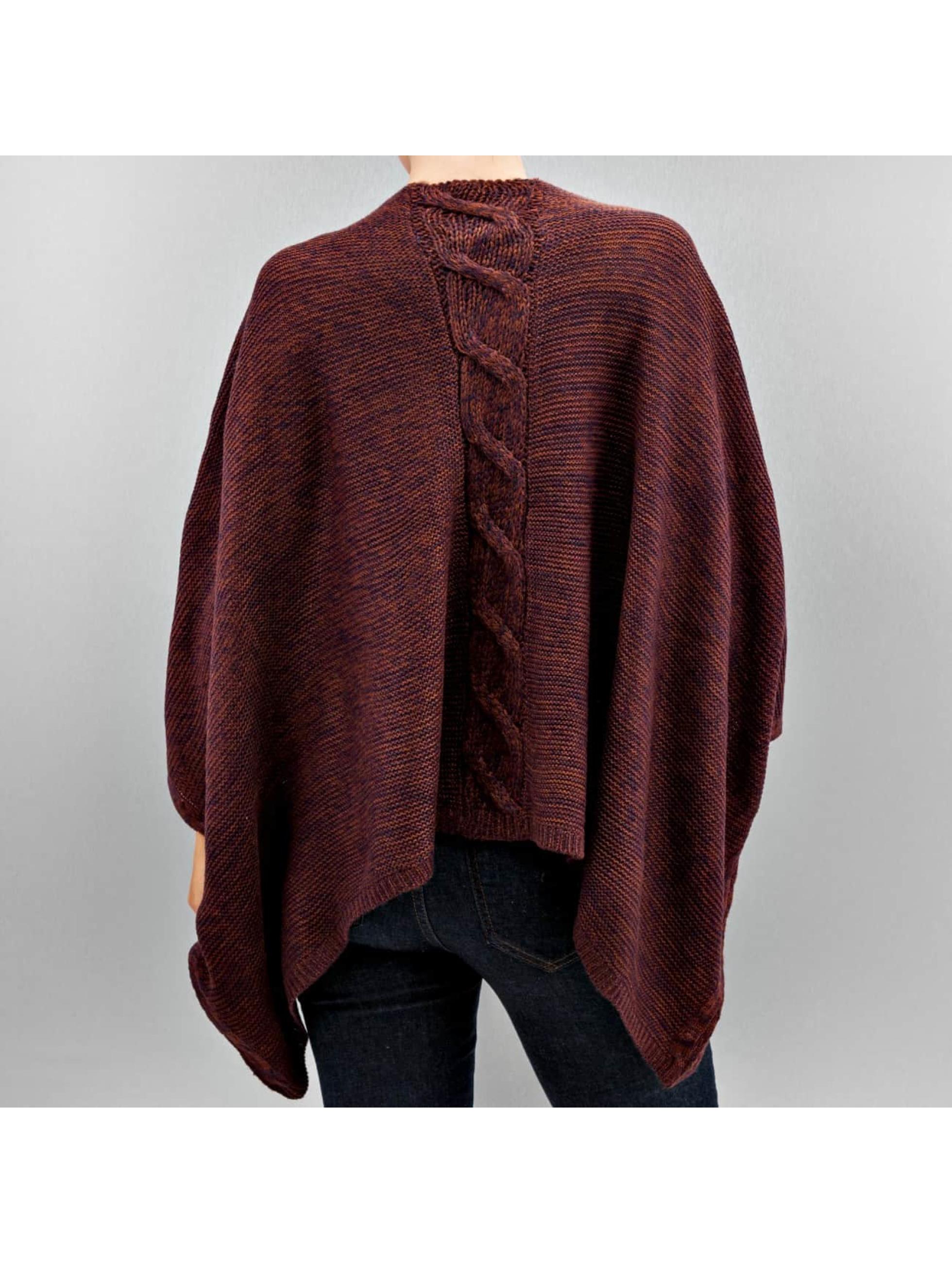 Only Пуловер onlAustin Poncho красный