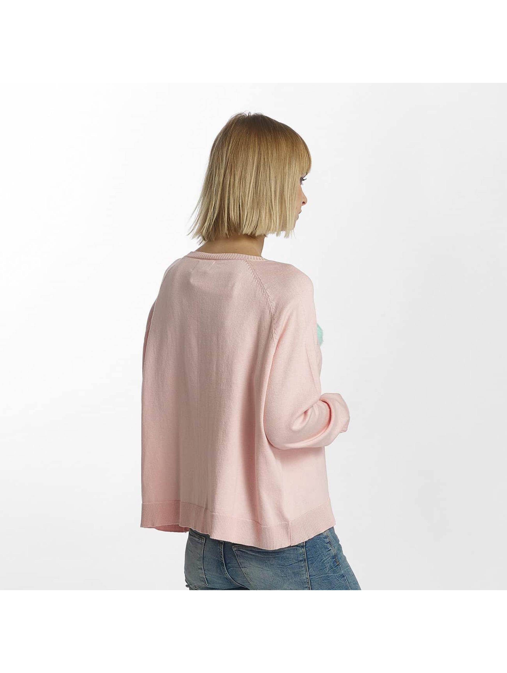 Only Пуловер onlVally розовый