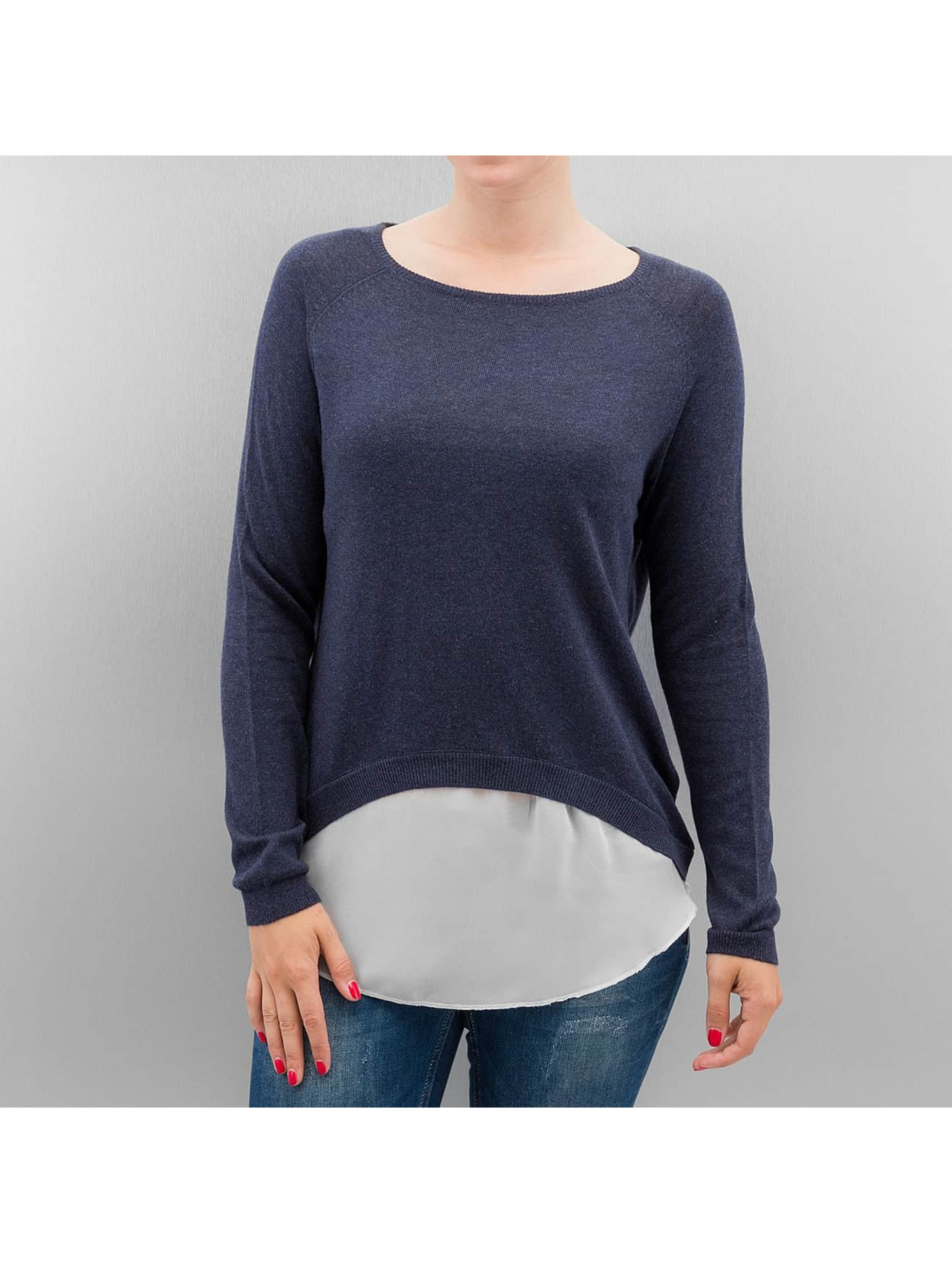 Only Пуловер onlSavanna Round Mix синий