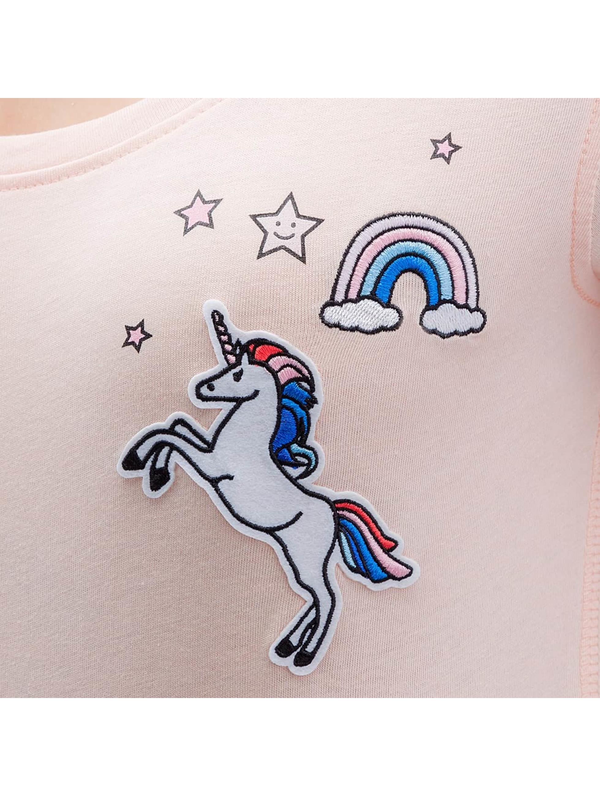 Only Футболка onlTessa Unicorn розовый