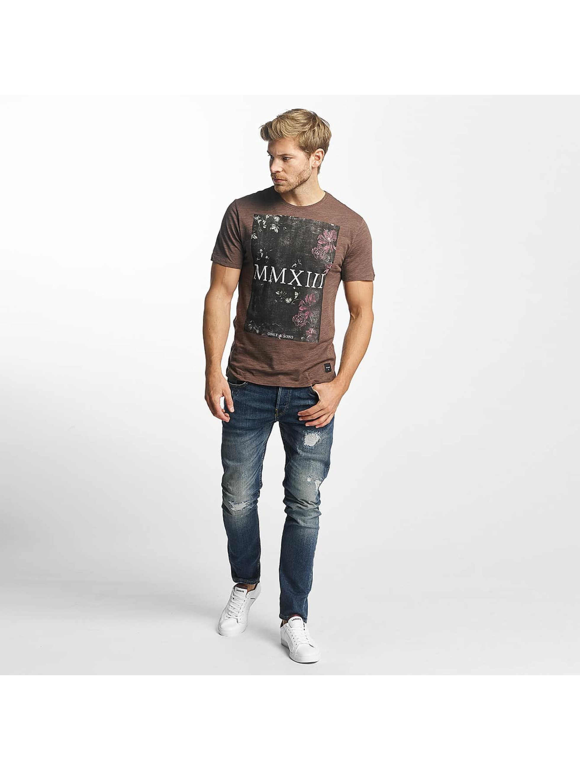 Only & Sons T-Shirty onsMax brazowy