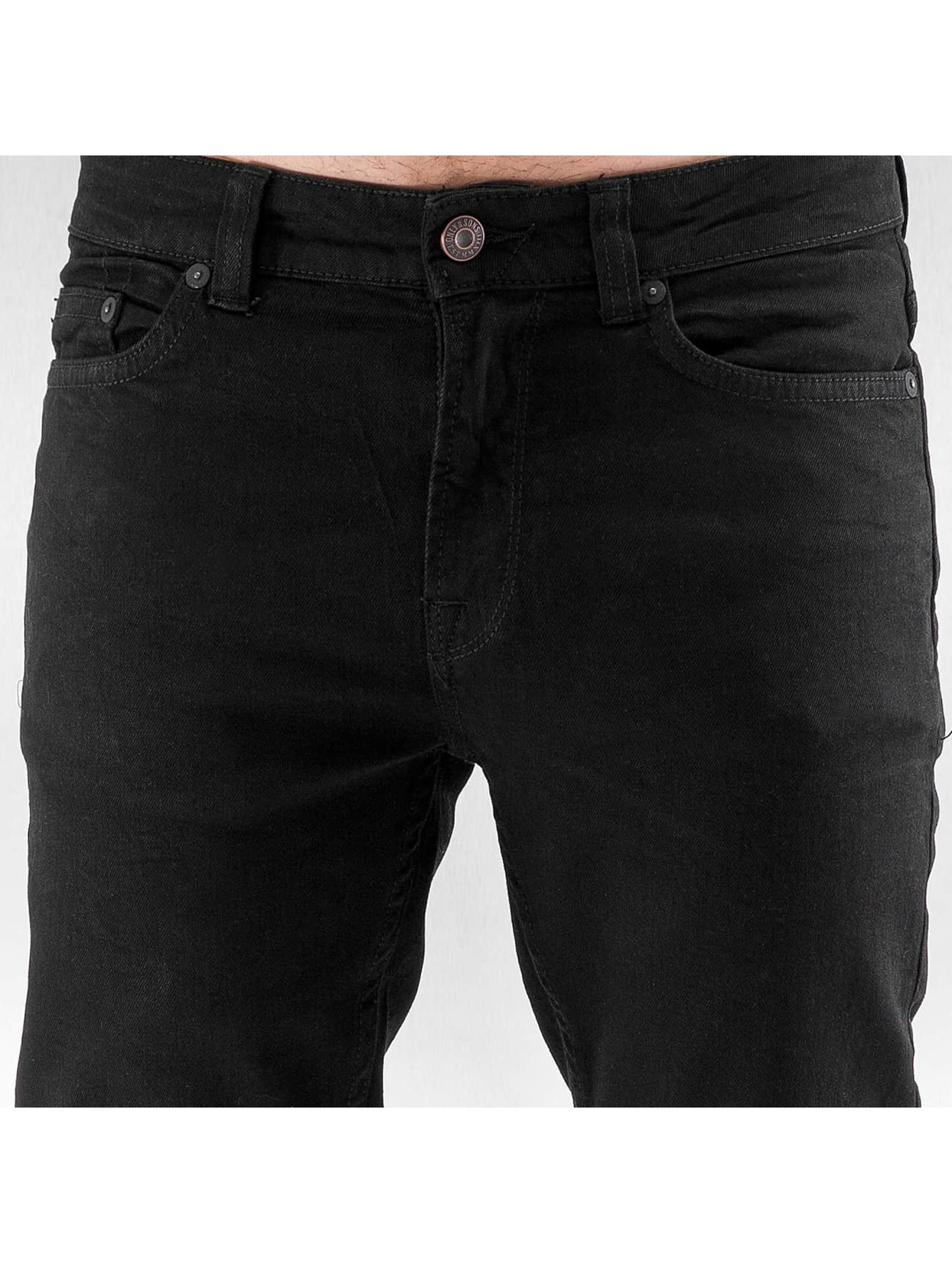 Only & Sons Vaqueros pitillos onsLoom negro