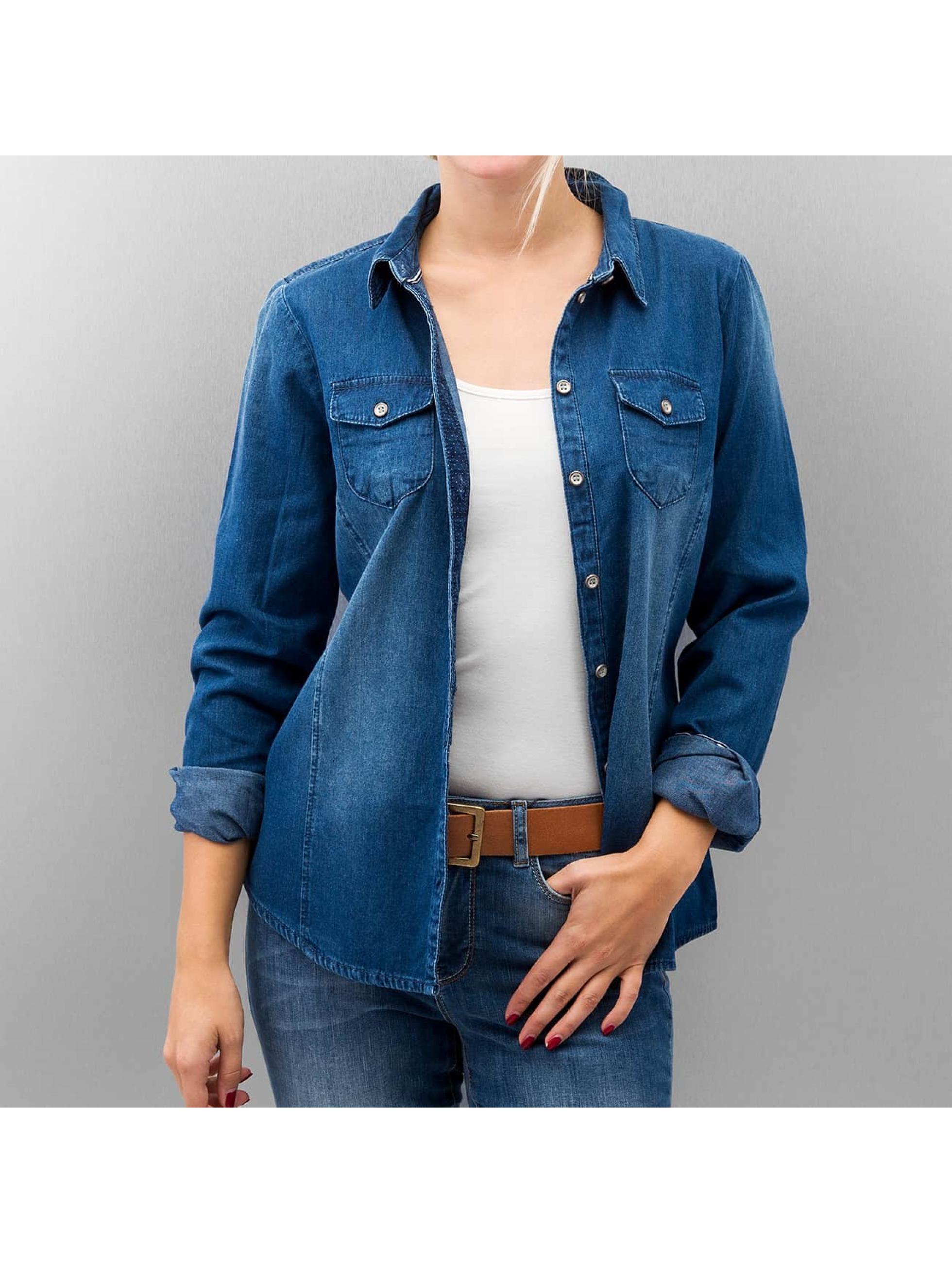 Only Bluse onlPop It Fittet Original Denim blau