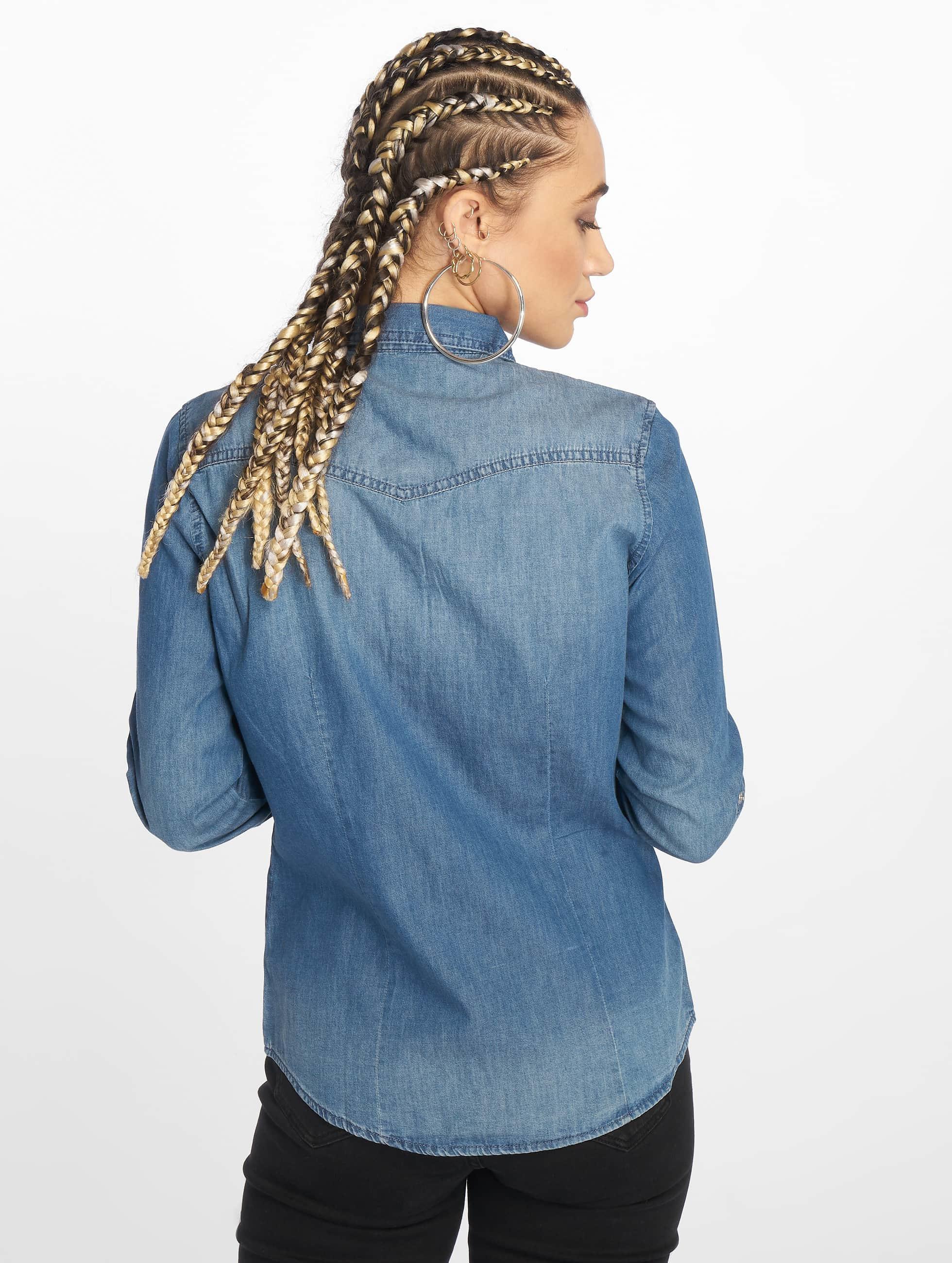 Only Bluse Always Rock It blau