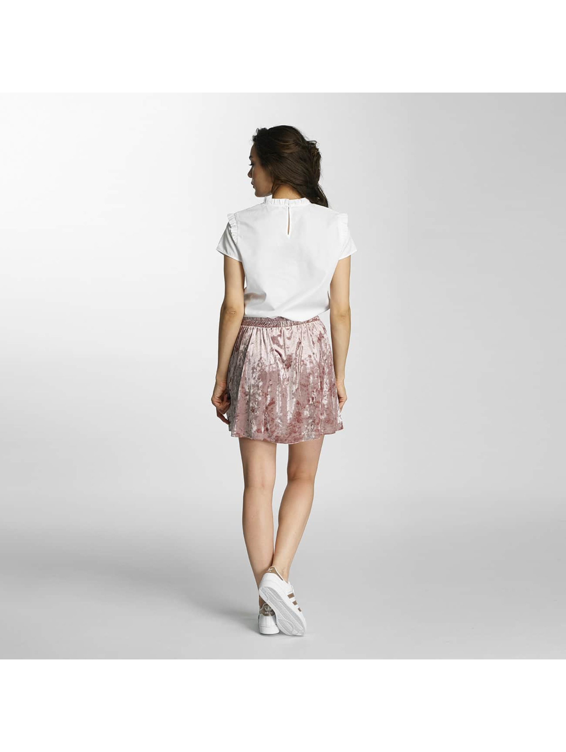 Only Bluse onlOzzy Small Frill weiß