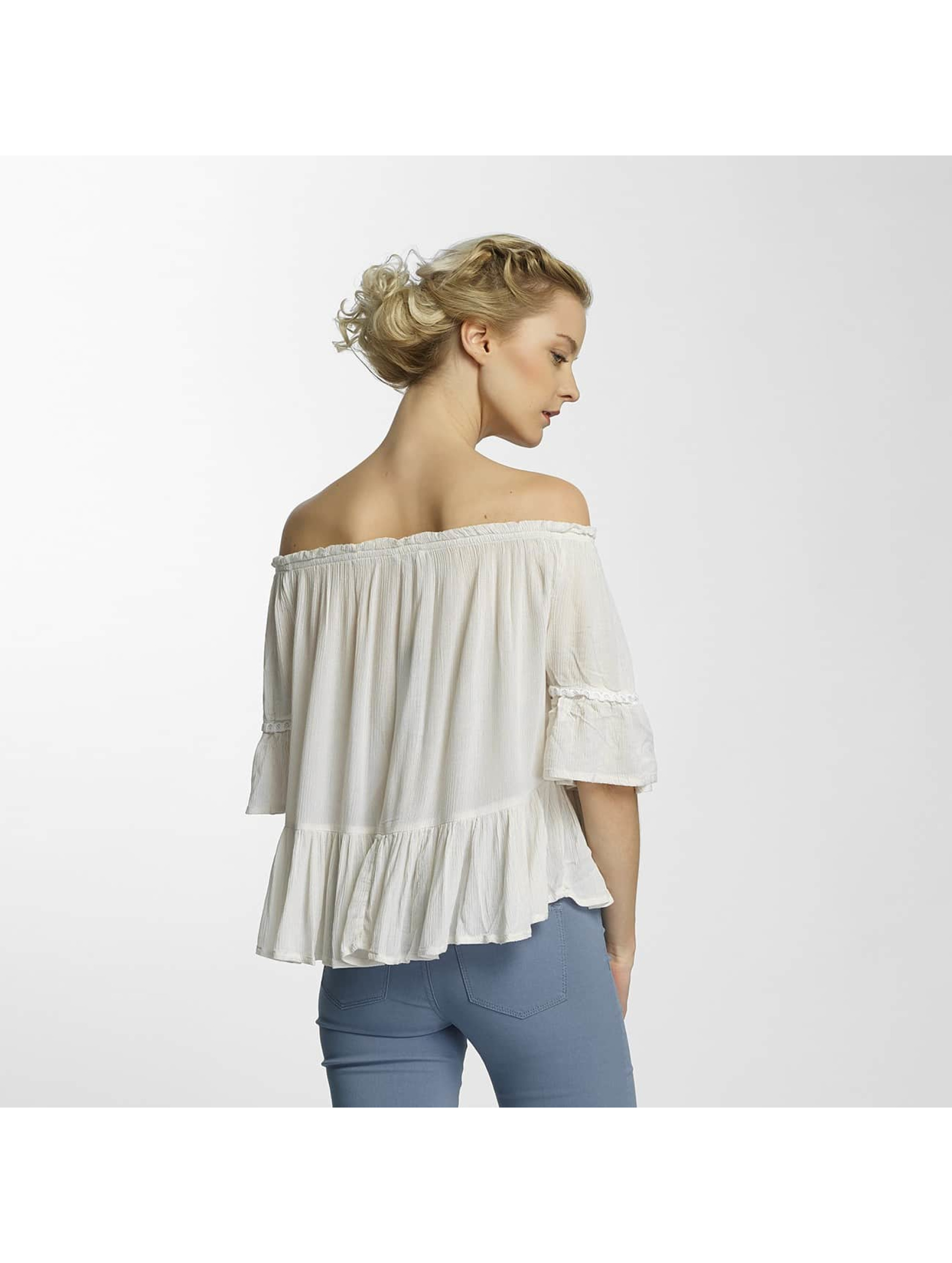 Only Bluse onlBingo Off Shoulder Peplum weiß