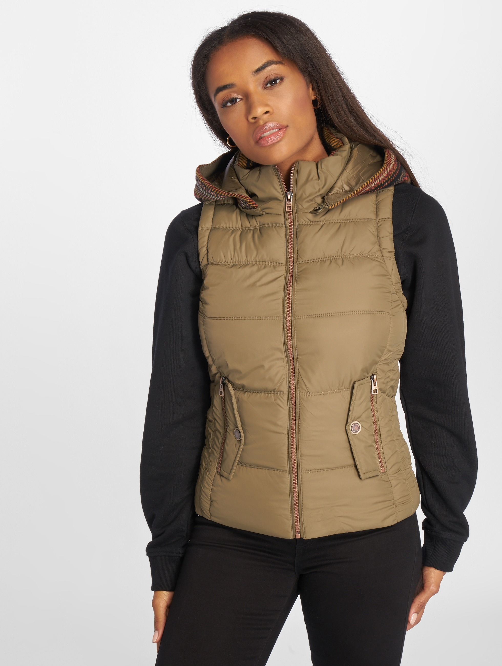 Only Bodywarmer onlDakota Mix olijfgroen