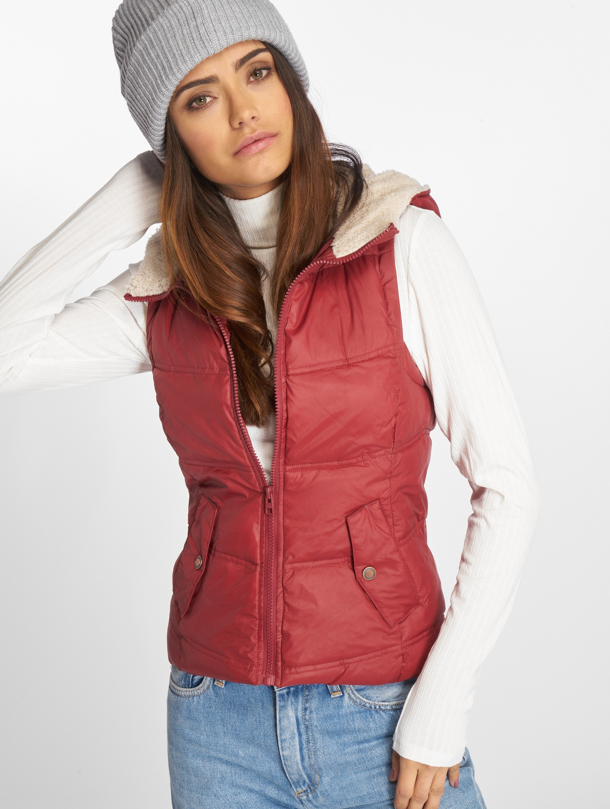 Only Bodywarmer onlPeyton Sherpa rood