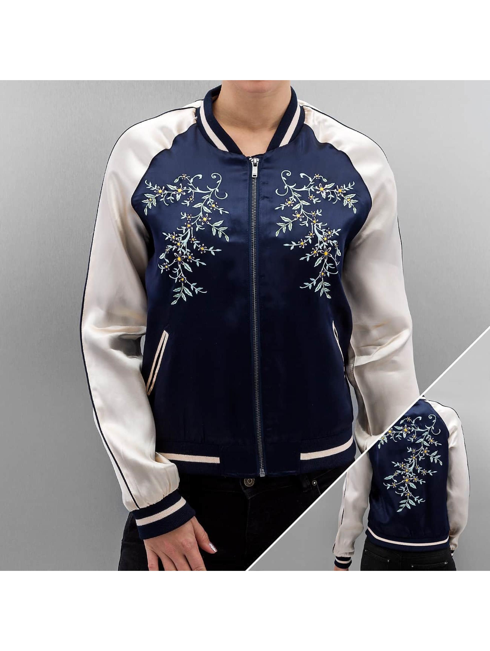 Only Bomber jacket onlSouvenir Flower blue