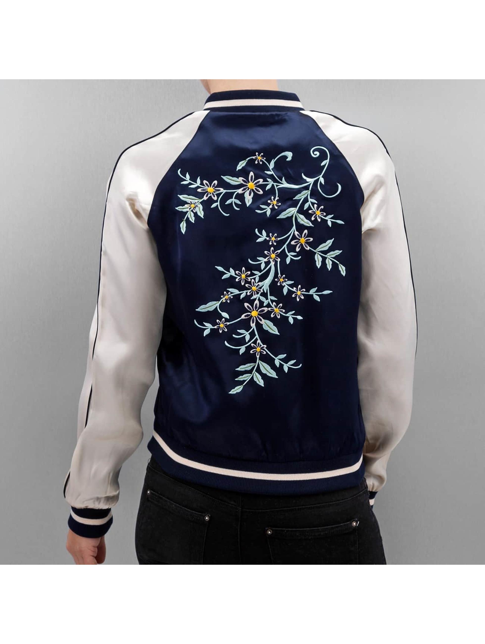 Only Bomberová bunda onlSouvenir Flower modrá