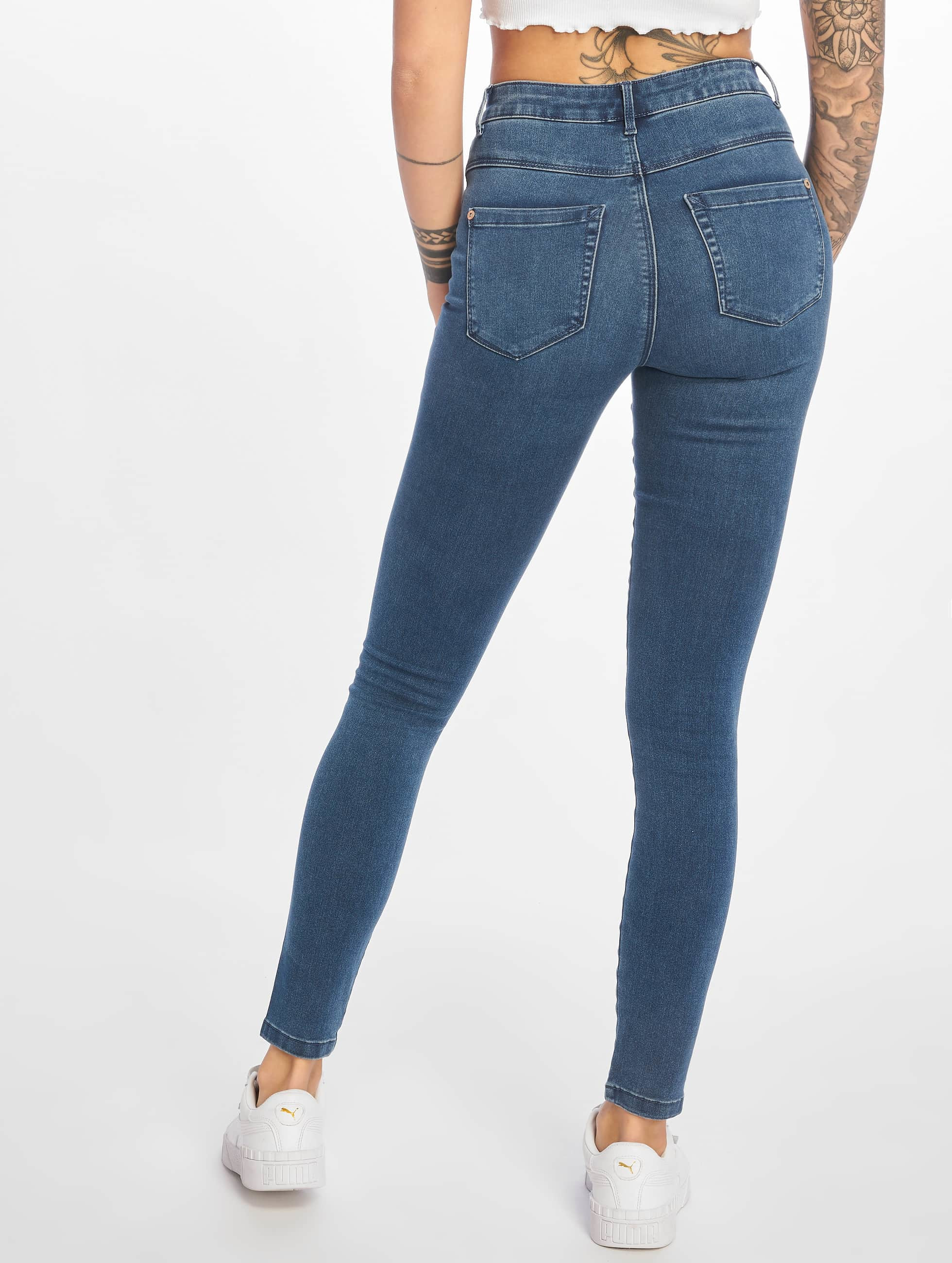 Only High Waisted Jeans onlRoyal Highwaist modrá