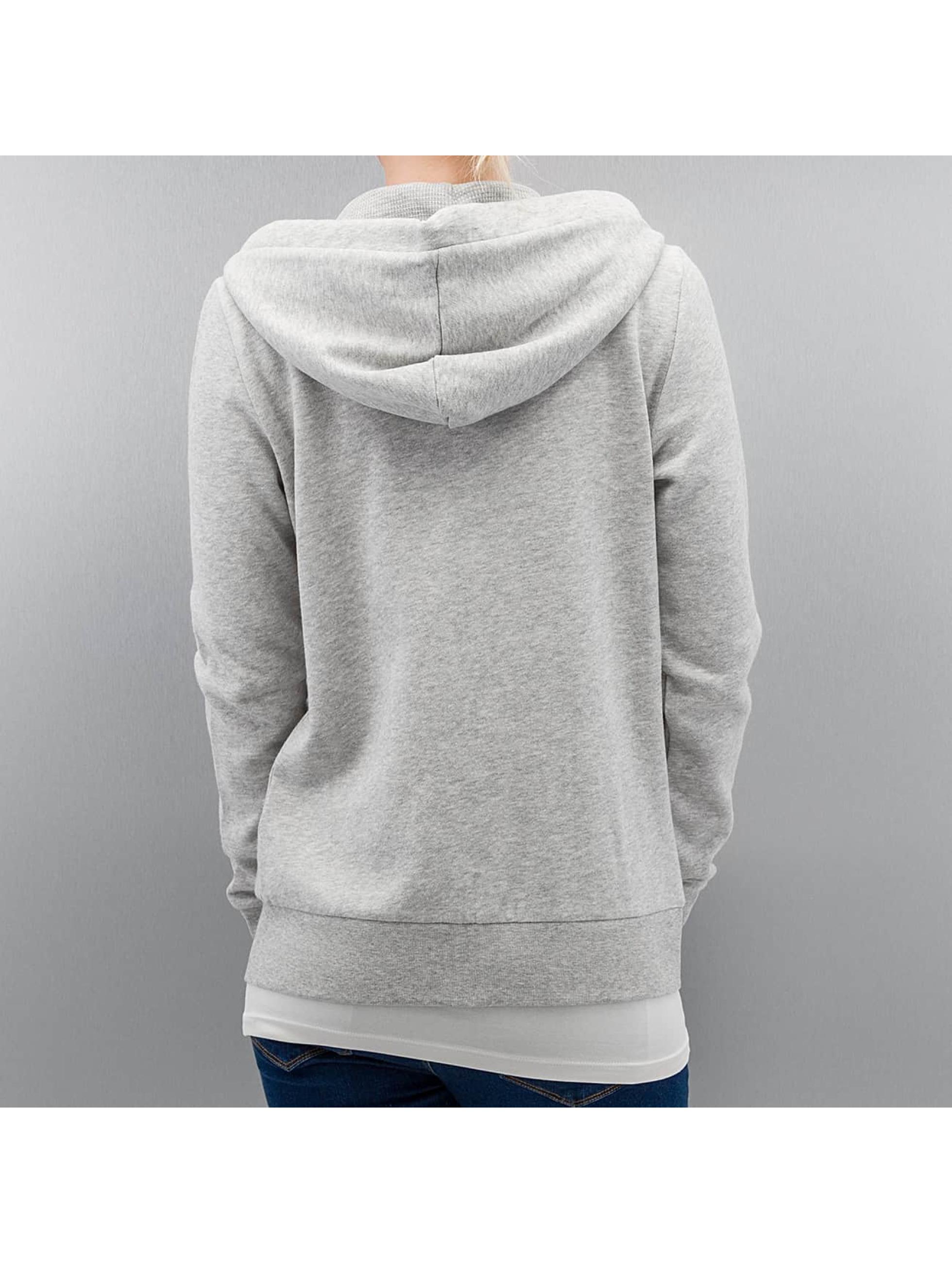 Only Hoodies con zip onlFinley grigio