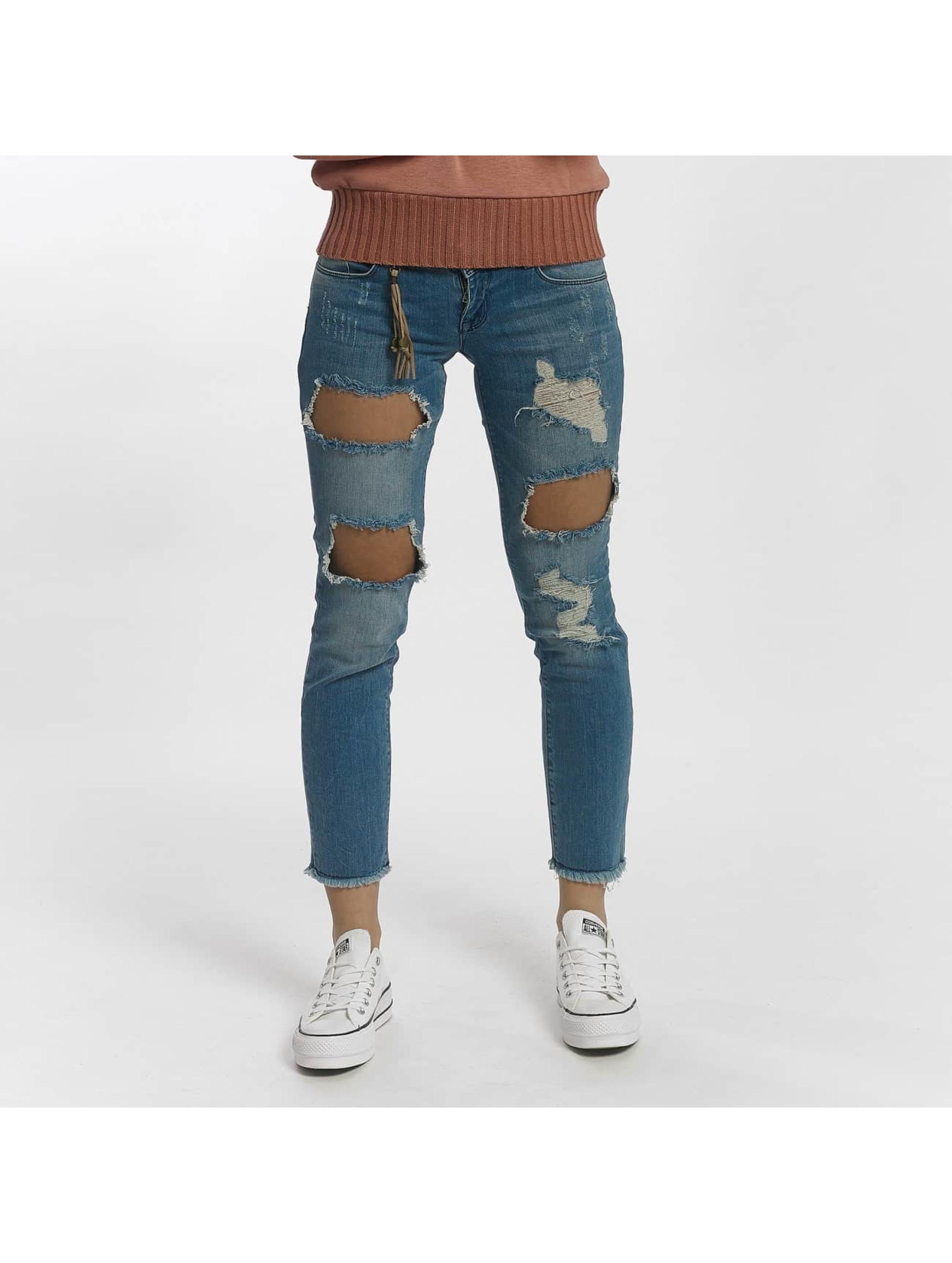 Only Jean / Jeans Straight Fit onlJulie Slim Ankle en bleu