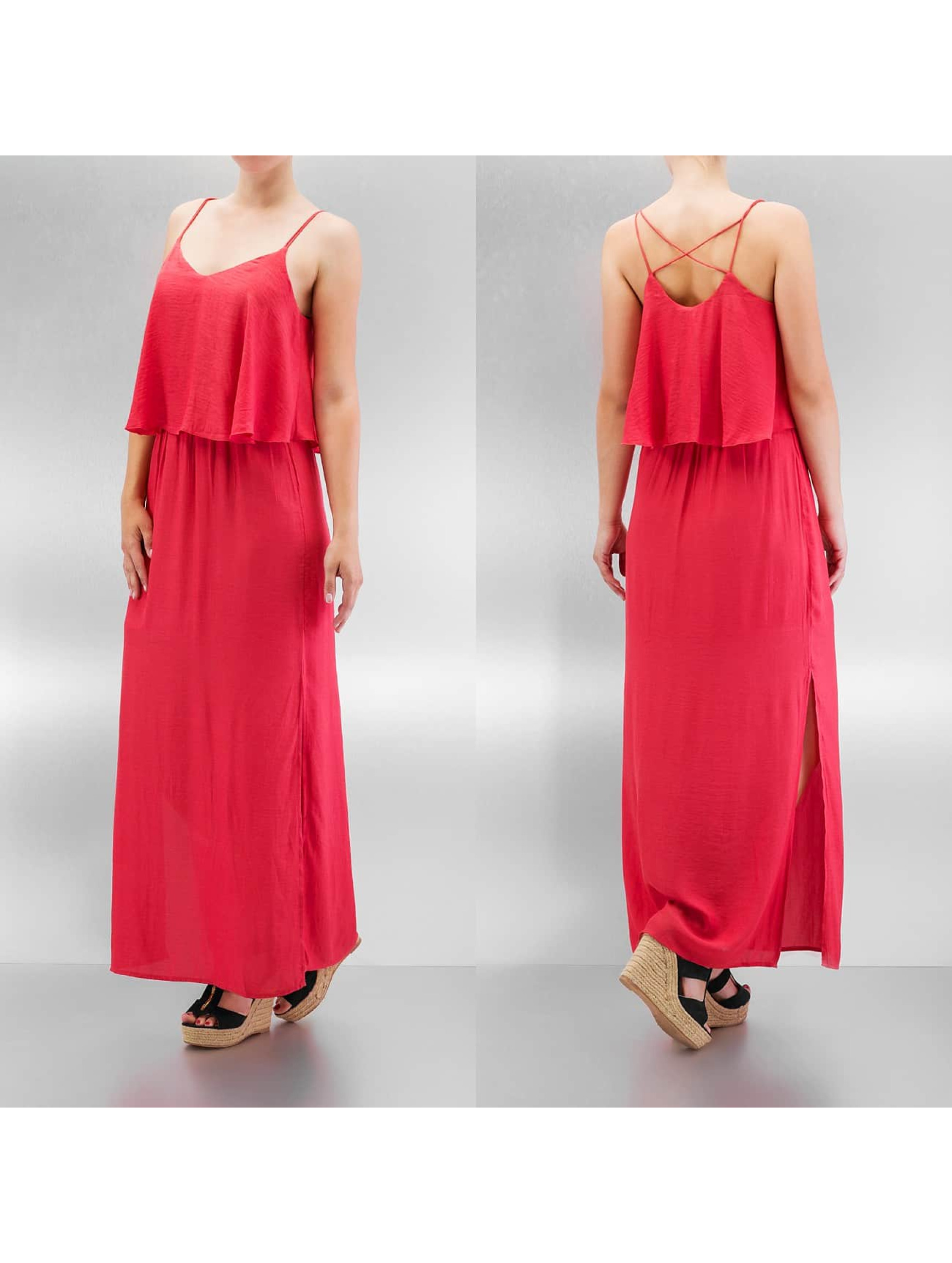 Only Kleid onlMojo Solid Strap Maxi rot