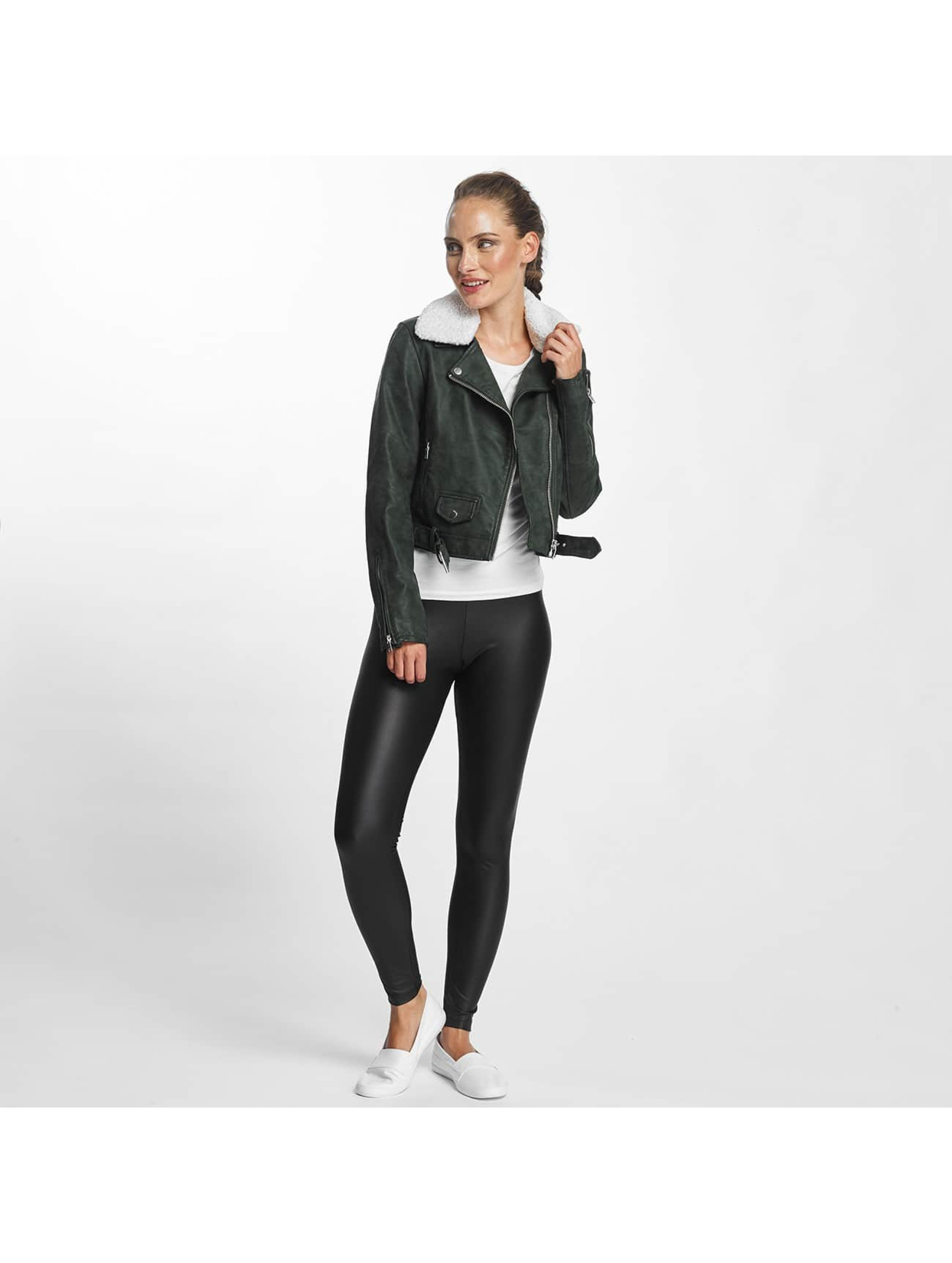 Only Lederjacke onlDanielle Faux Leather Biker grün