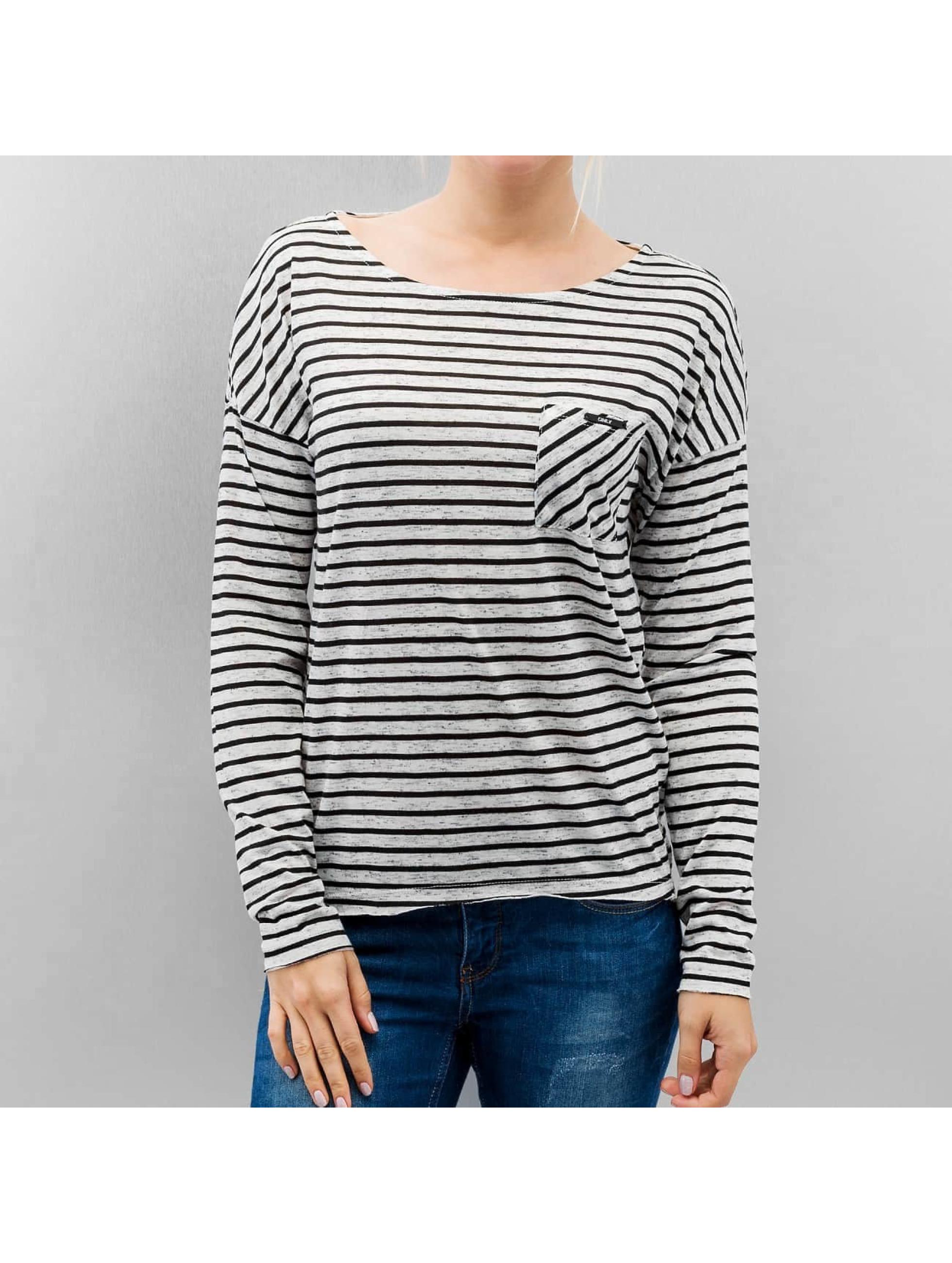Only Longsleeve onlClare Pocket Stripes weiß