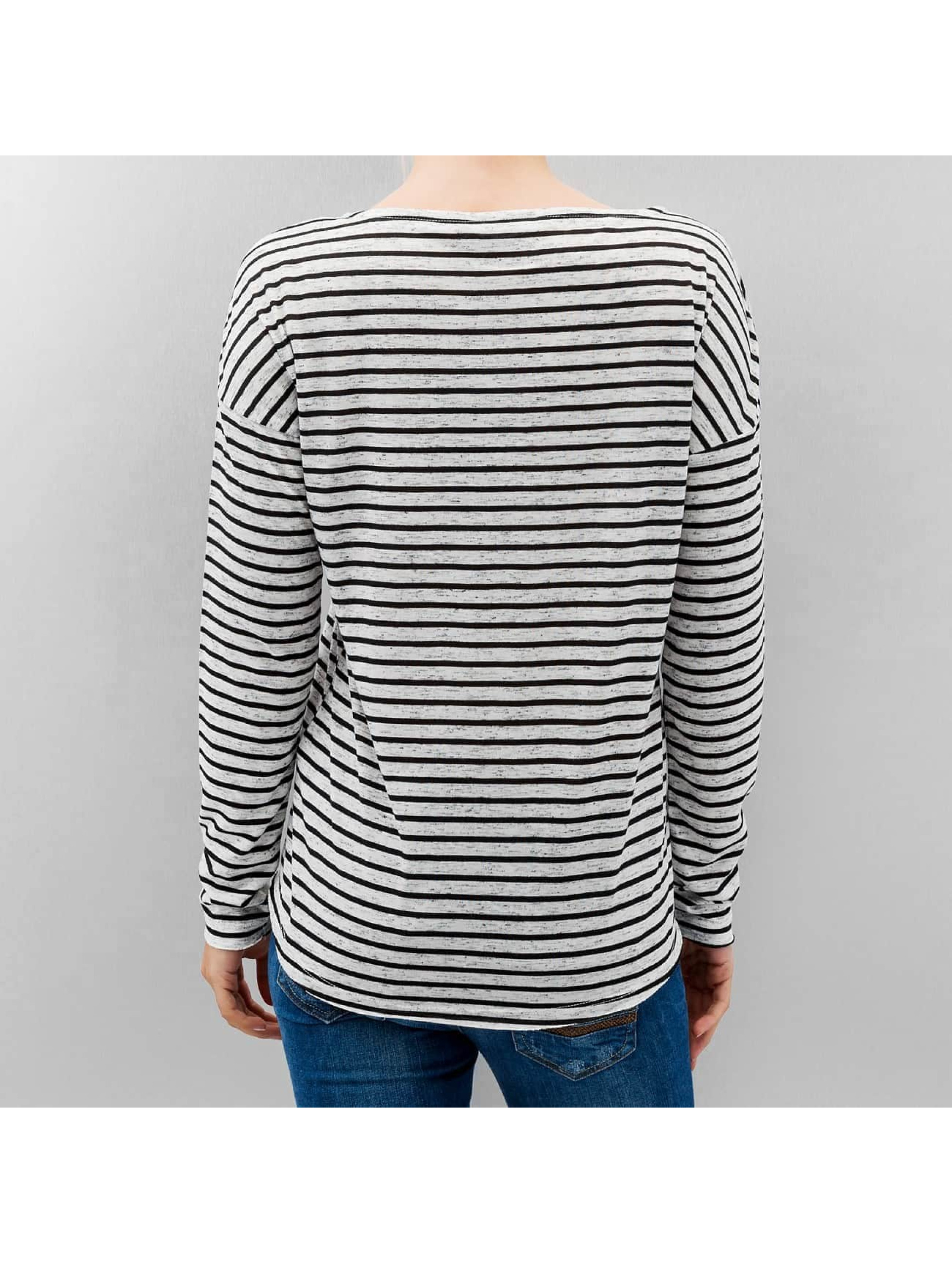Only Longsleeve onlClare Pocket Stripes weiß
