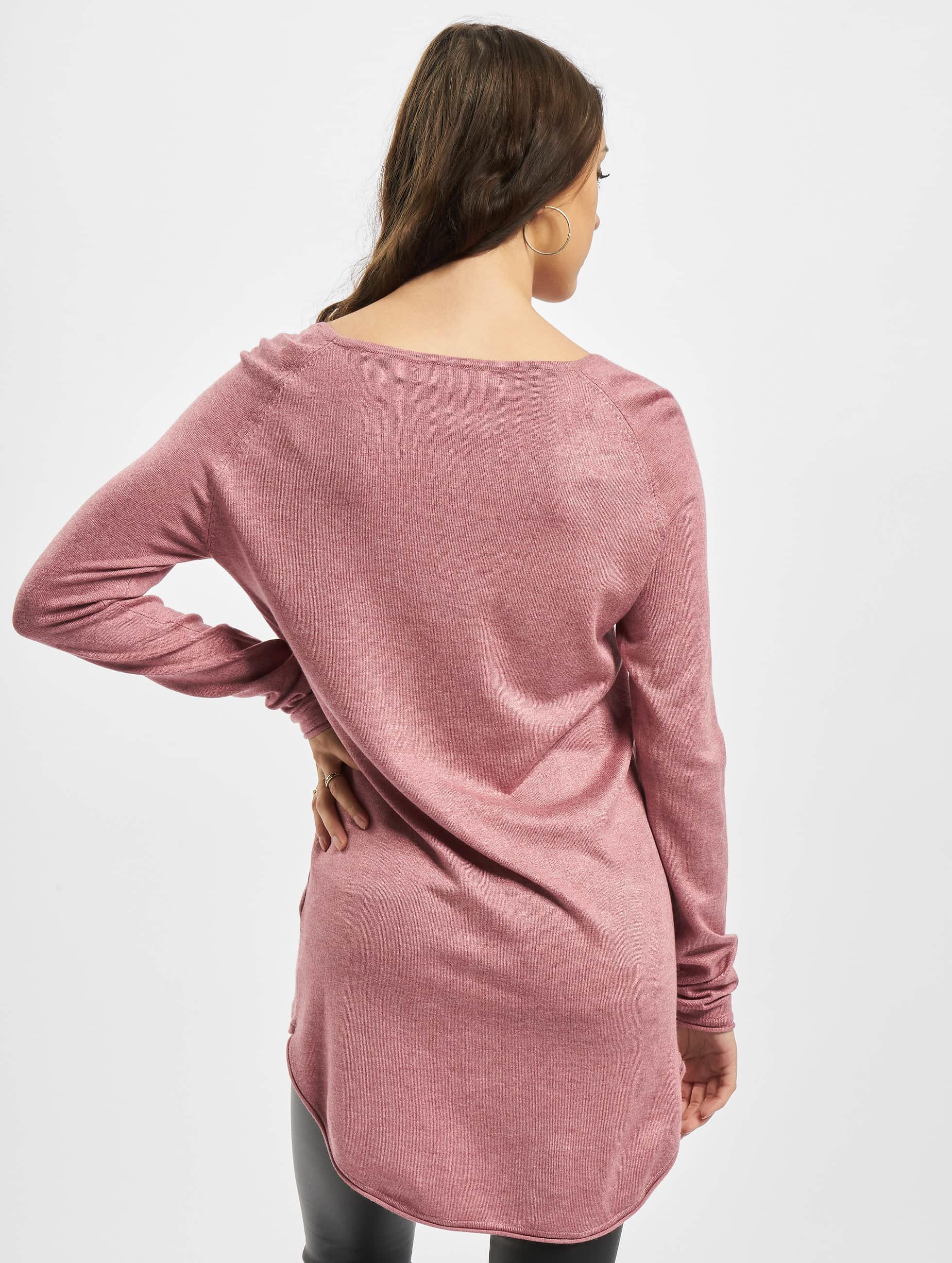 Only Maglia Mila Lacy Long rosa chiaro
